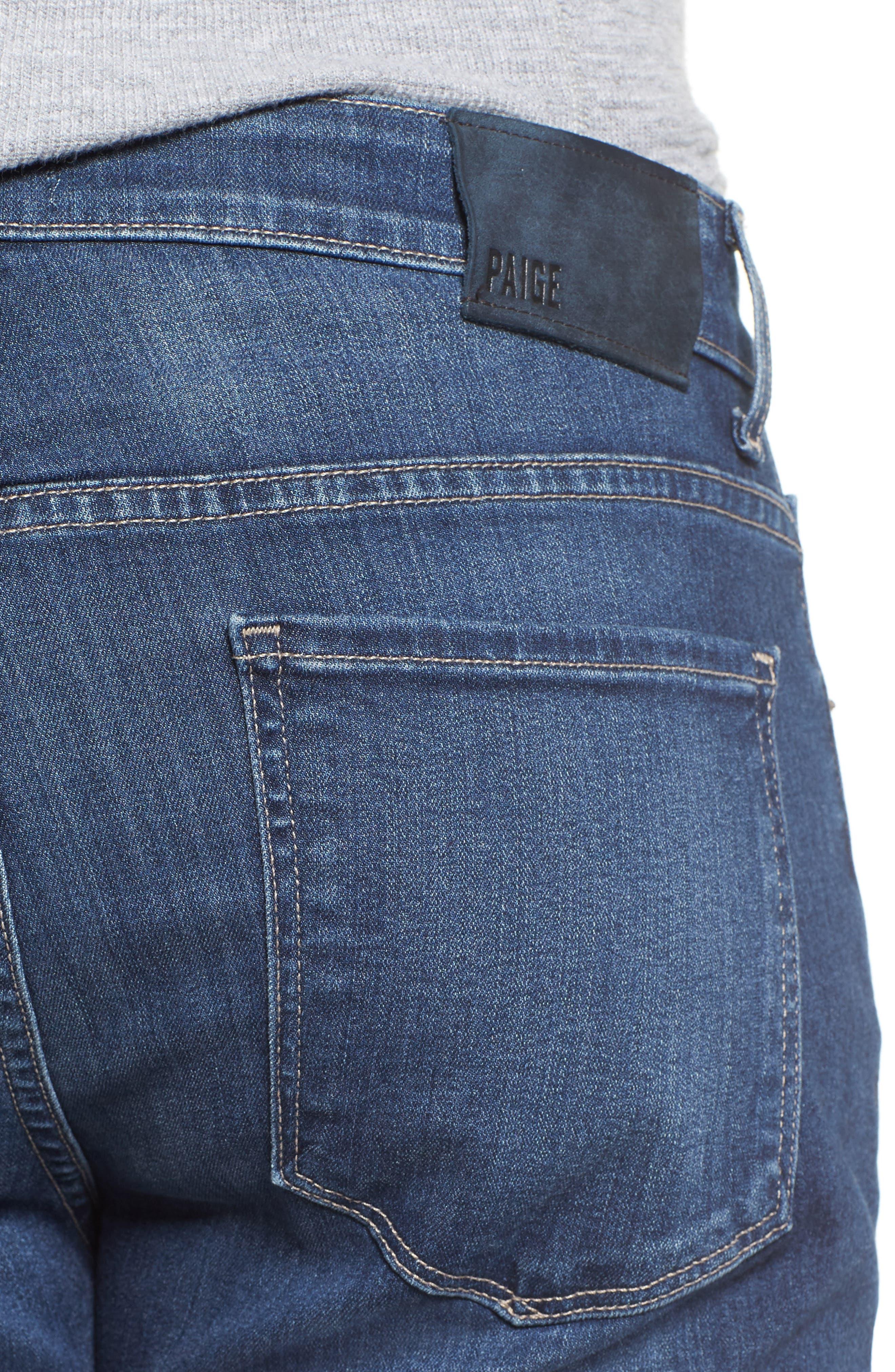 Transcend - Lennox Straight Leg Jeans,                             Alternate thumbnail 4, color,                             Leo
