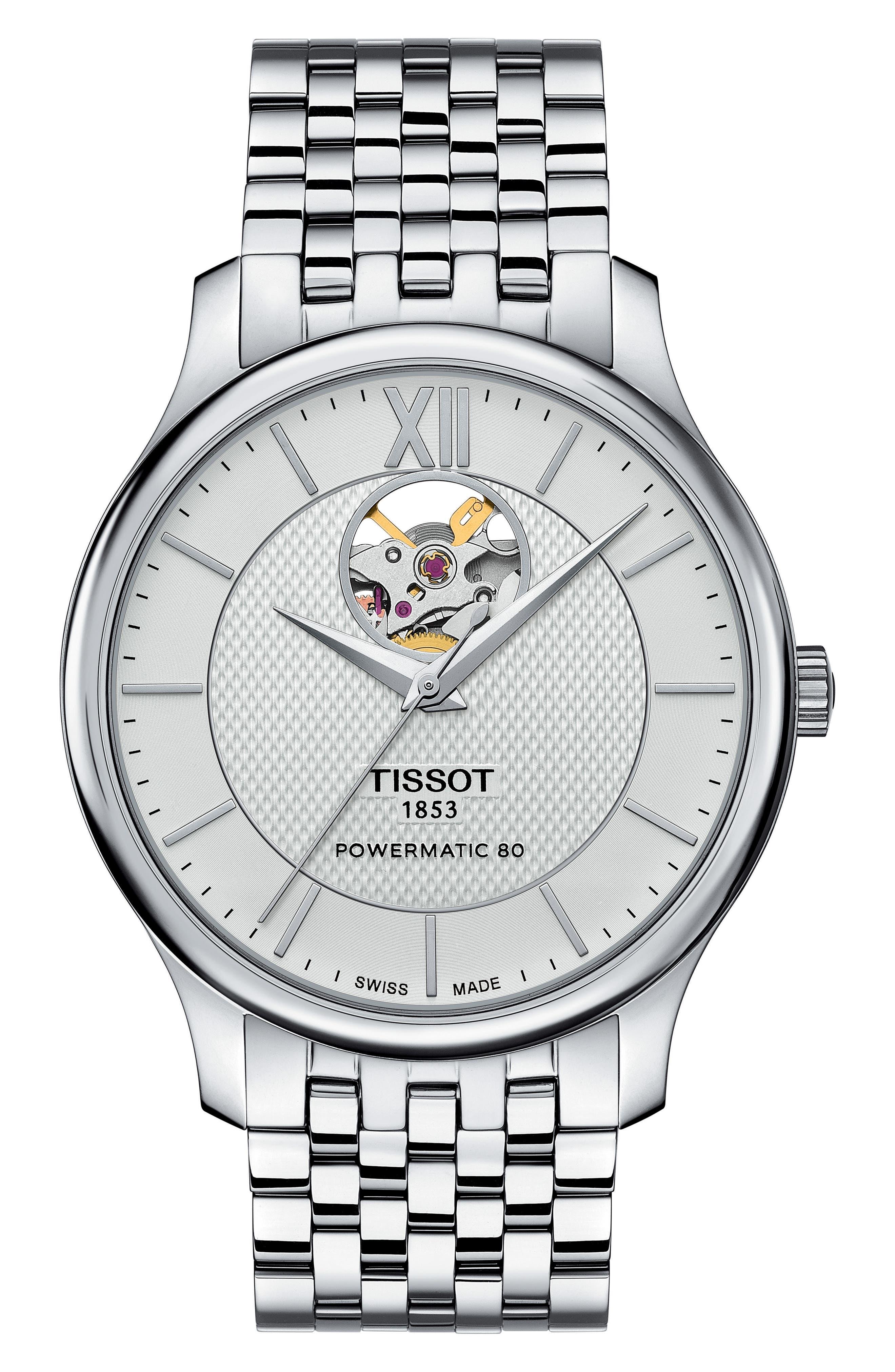 Alternate Image 1 Selected - Tissot Tradition Bracelet Watch, 40mm