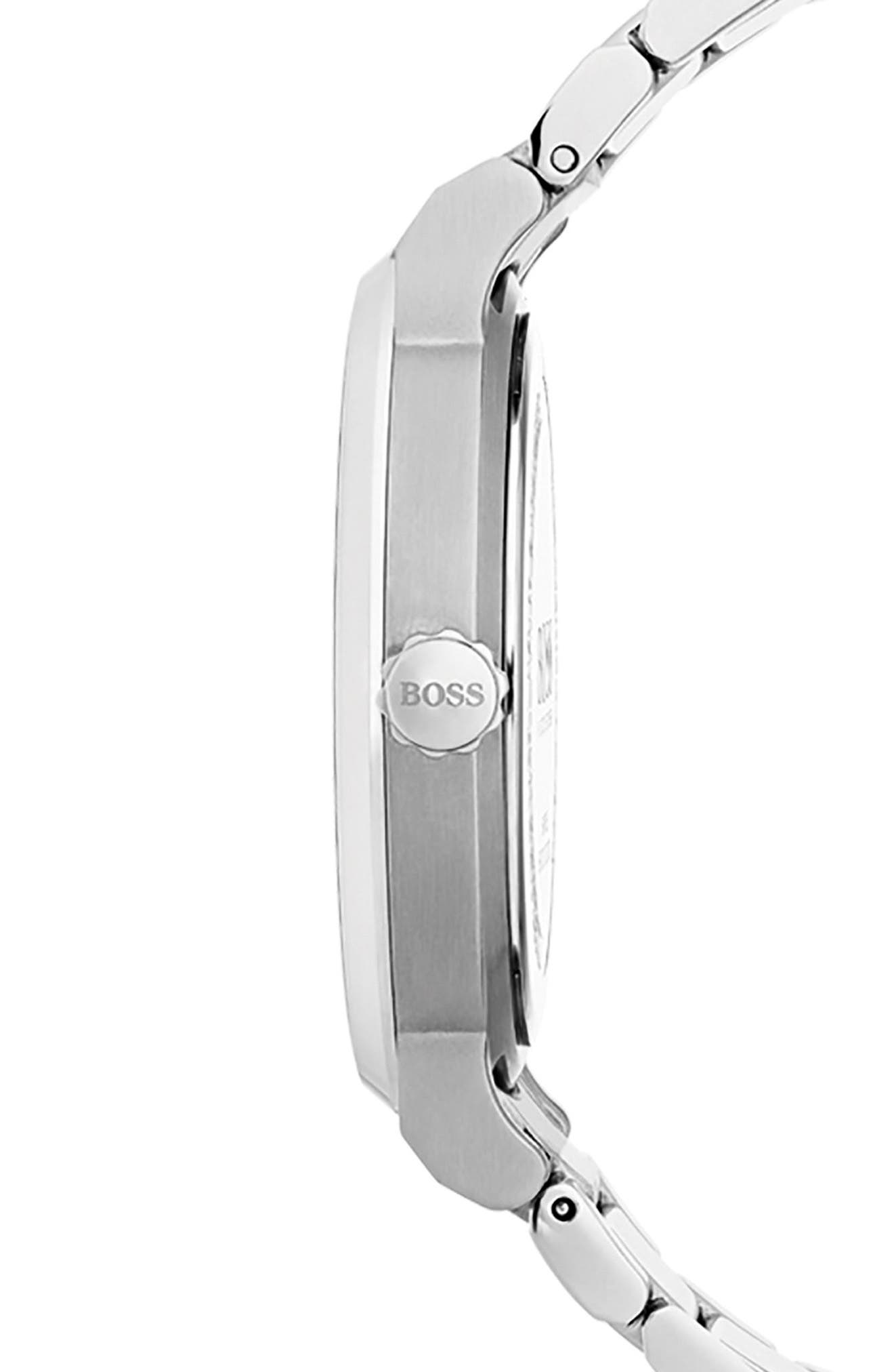 Essence Bracelet Watch, 42mm,                             Alternate thumbnail 3, color,                             Silver/ Silver