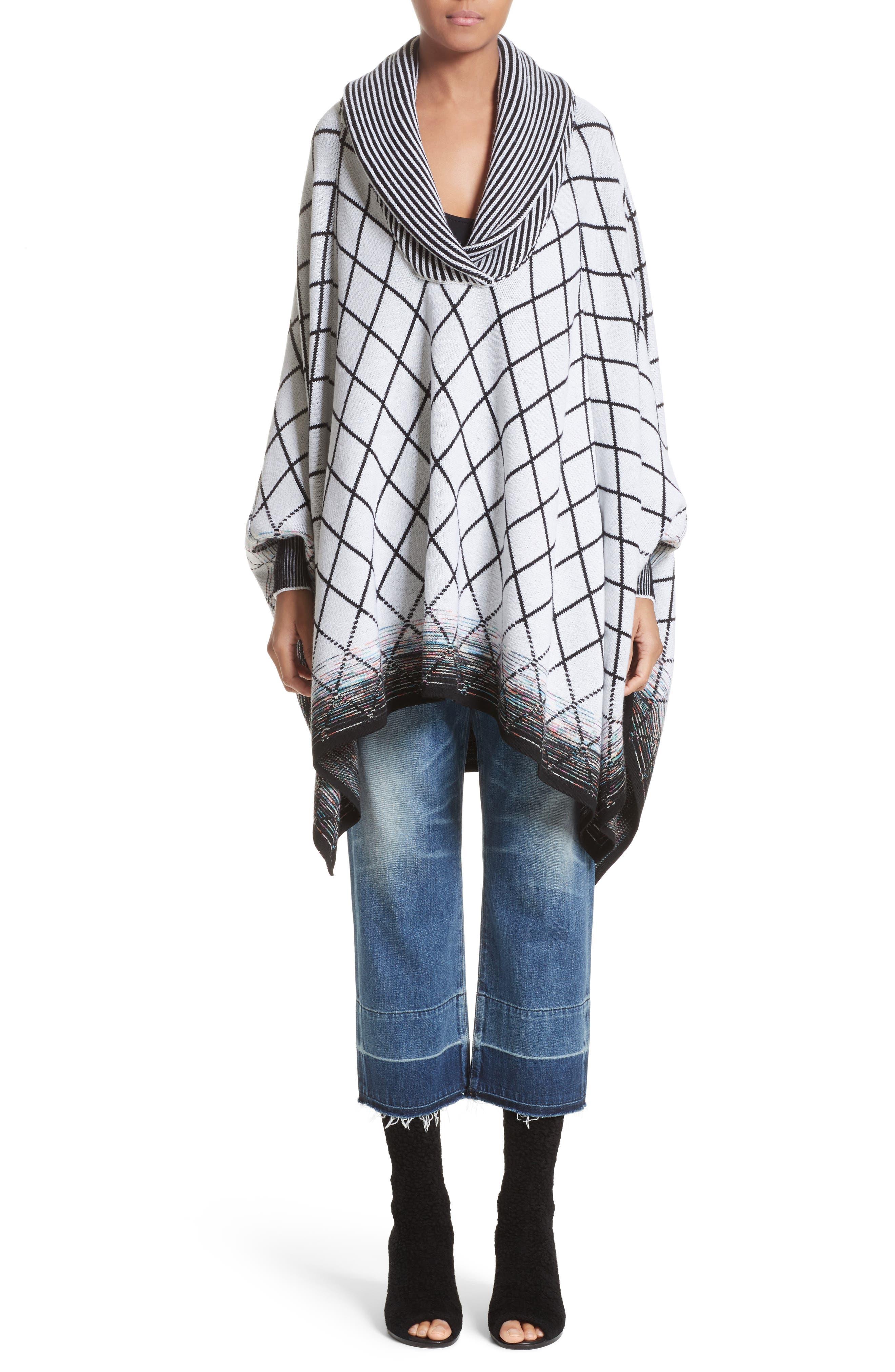 Alternate Image 1 Selected - Missoni Check Dégradé Jacquard Knit Poncho