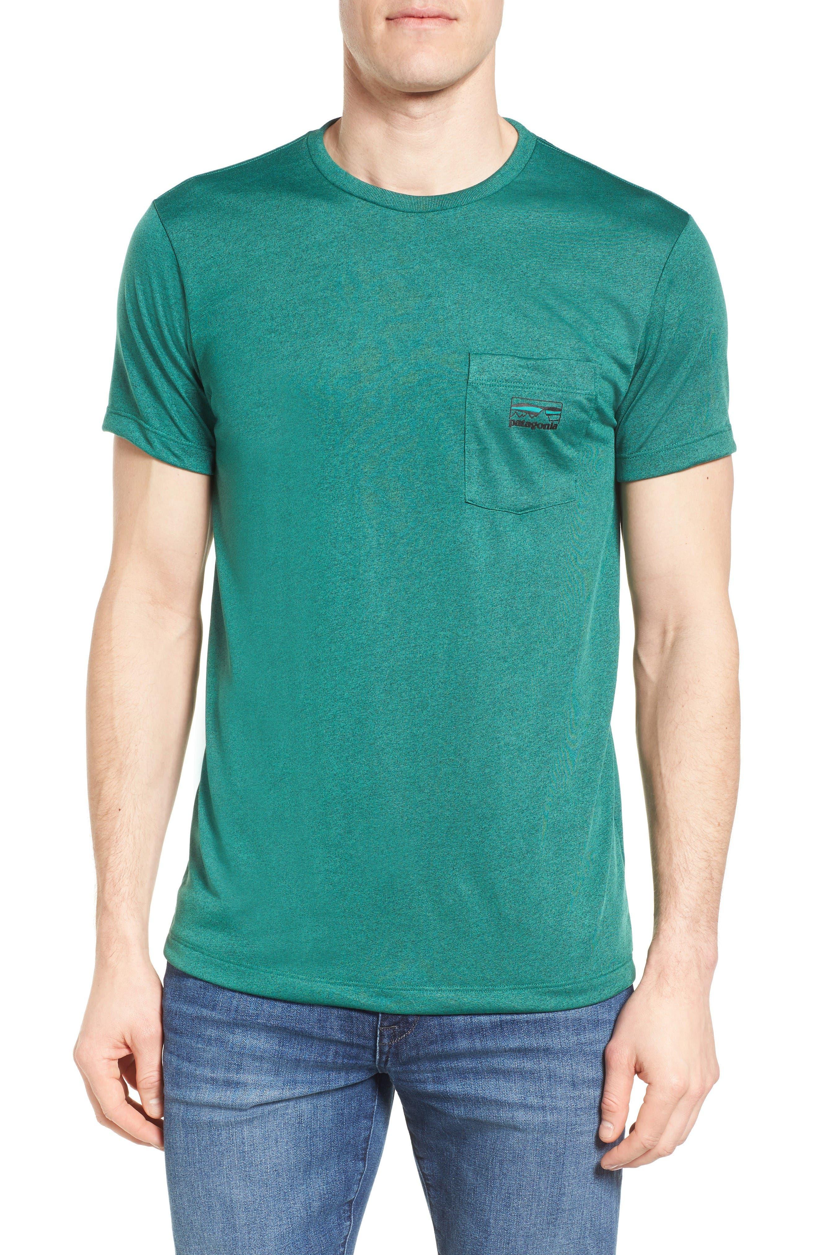 '73 Logo Slim Fit T-Shirt,                             Main thumbnail 1, color,                             Gem Green