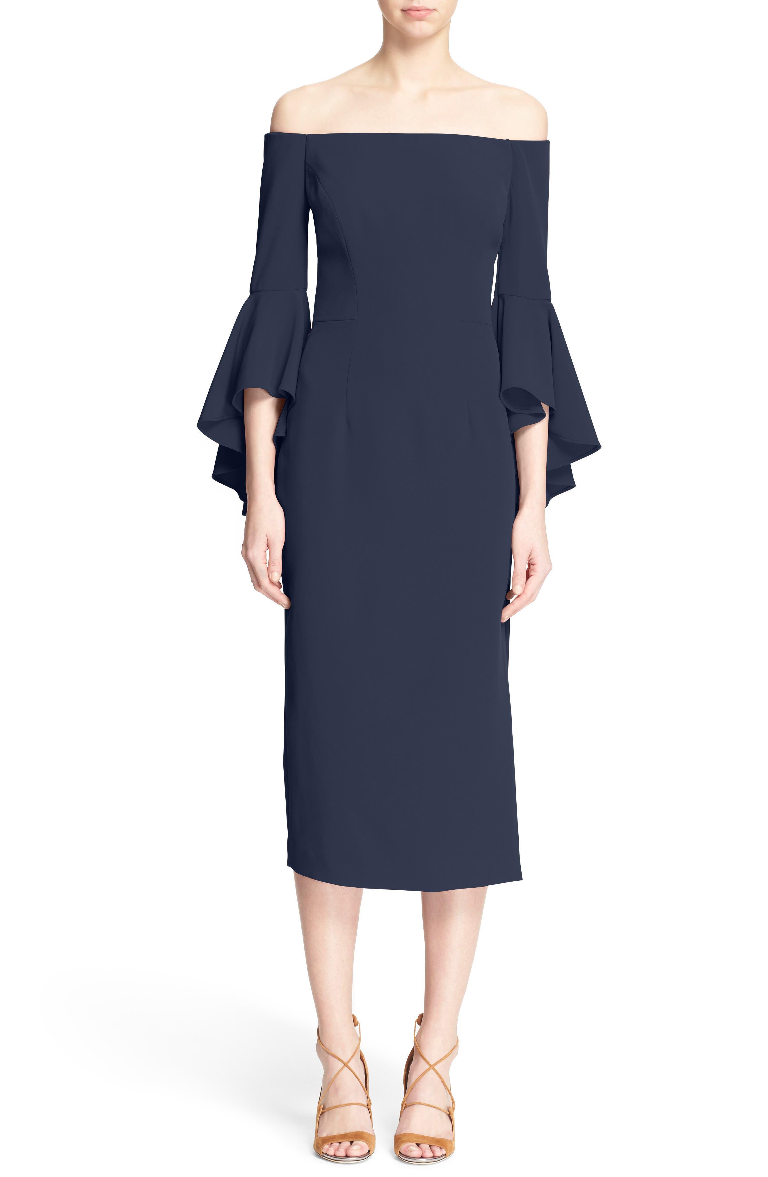 Alternate Image 1 Selected - Milly Selena Off the Shoulder Midi Dress