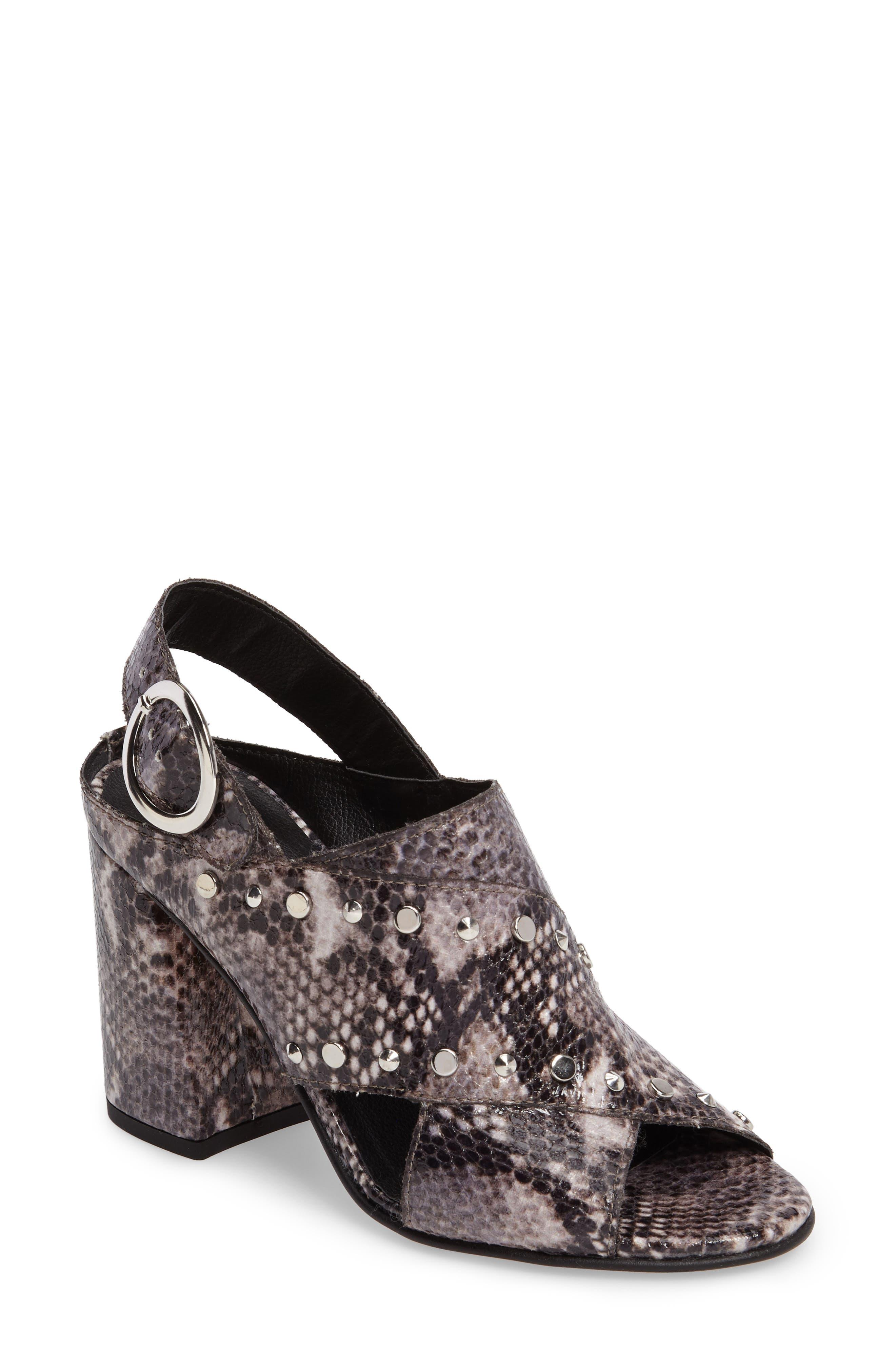 Alternate Image 1 Selected - Topshop Nixie Block Heel Sandal (Women)