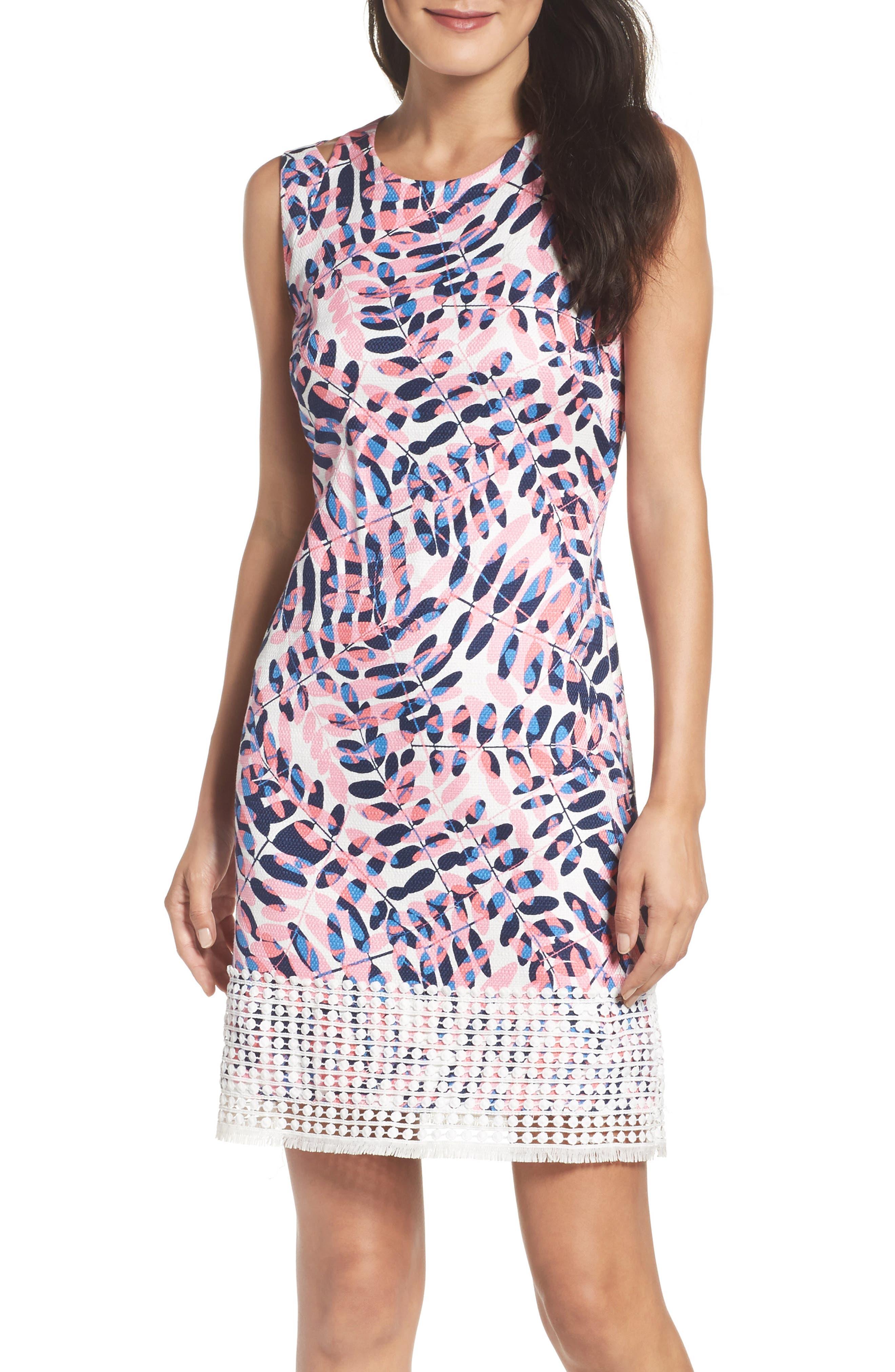 Alternate Image 1 Selected - Taylor Dresses Print Sheath Dress