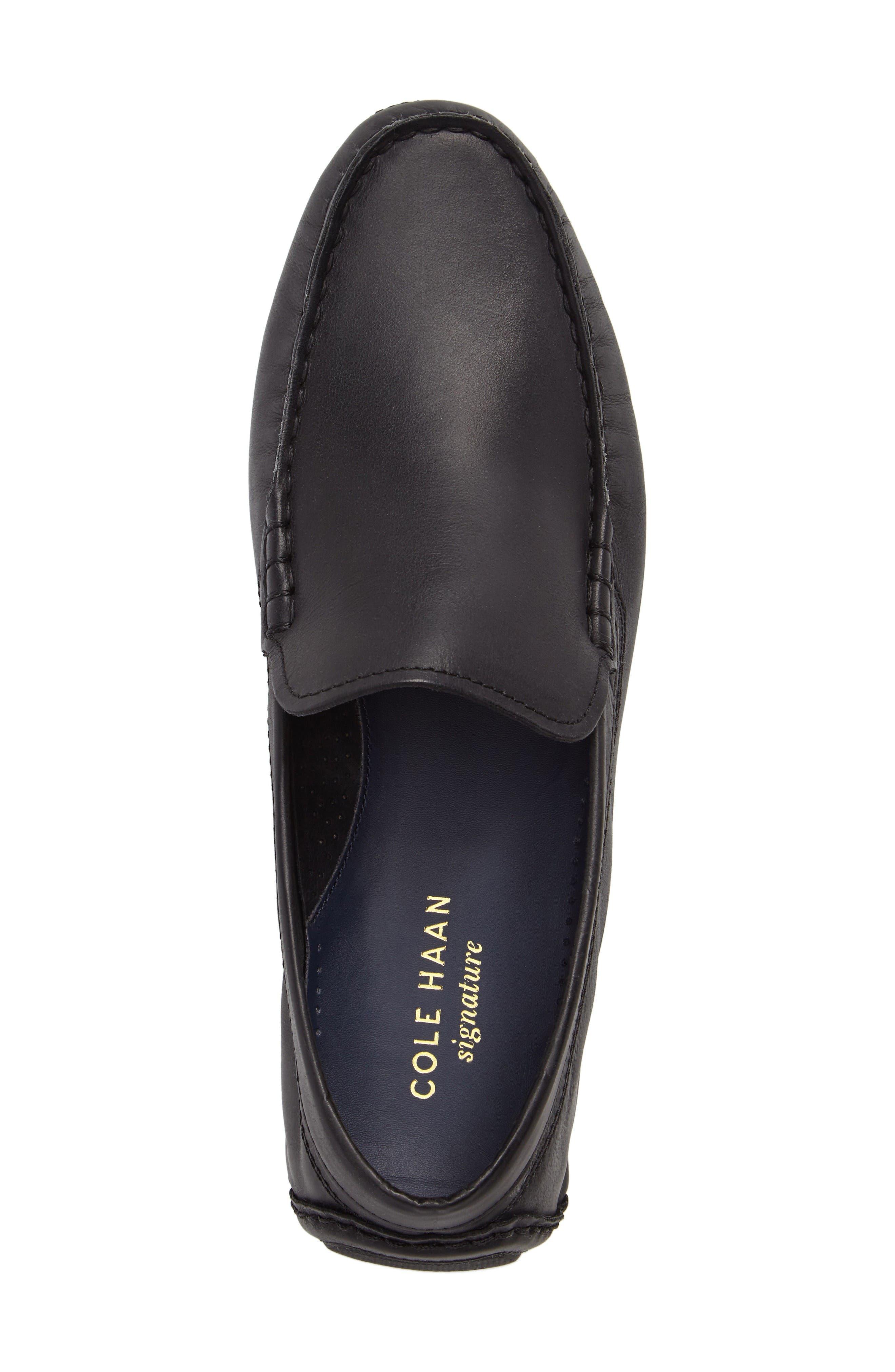 Kelson Venetian Driving Loafer,                             Alternate thumbnail 5, color,                             Black