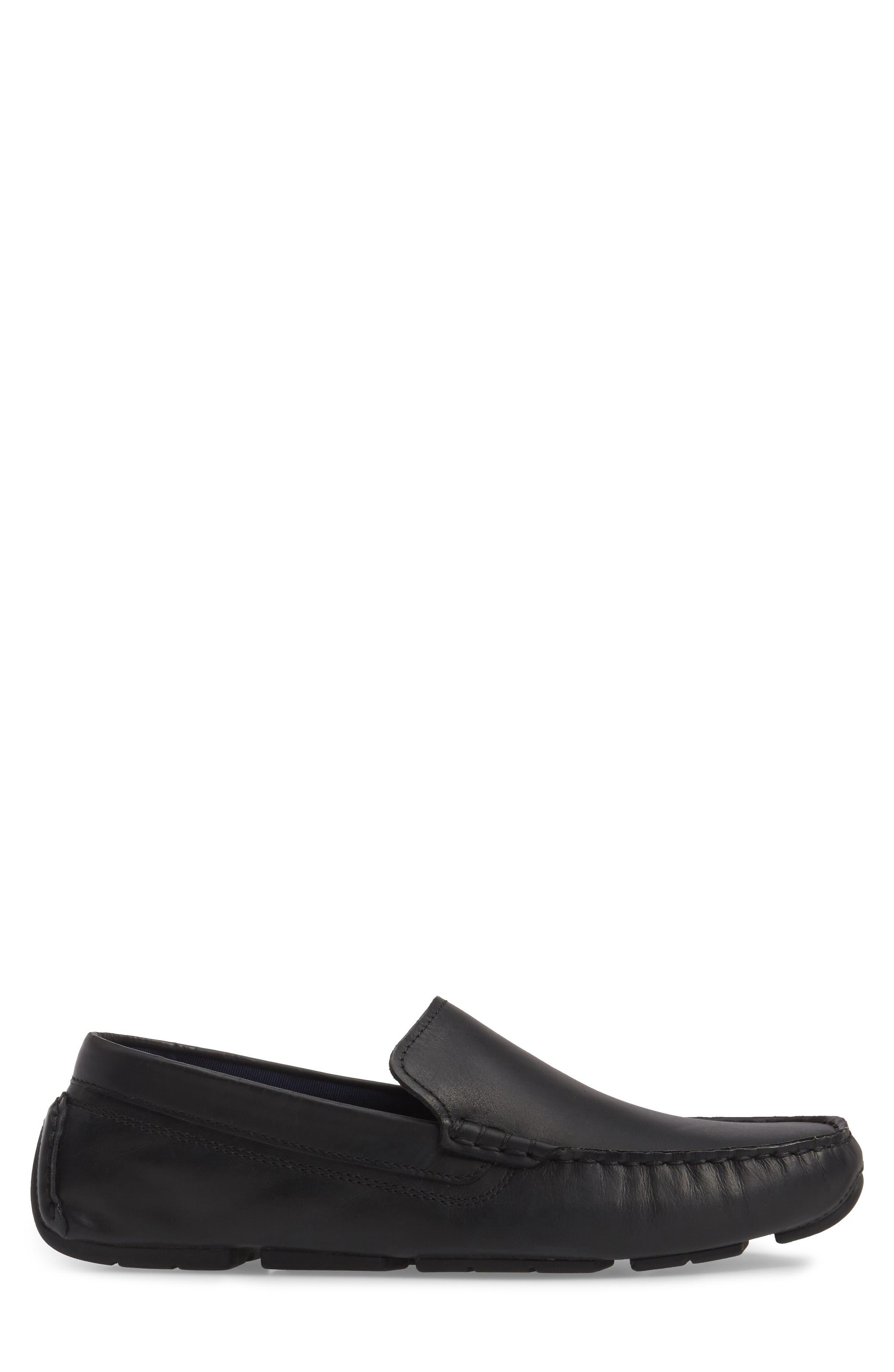 Kelson Venetian Driving Loafer,                             Alternate thumbnail 3, color,                             Black