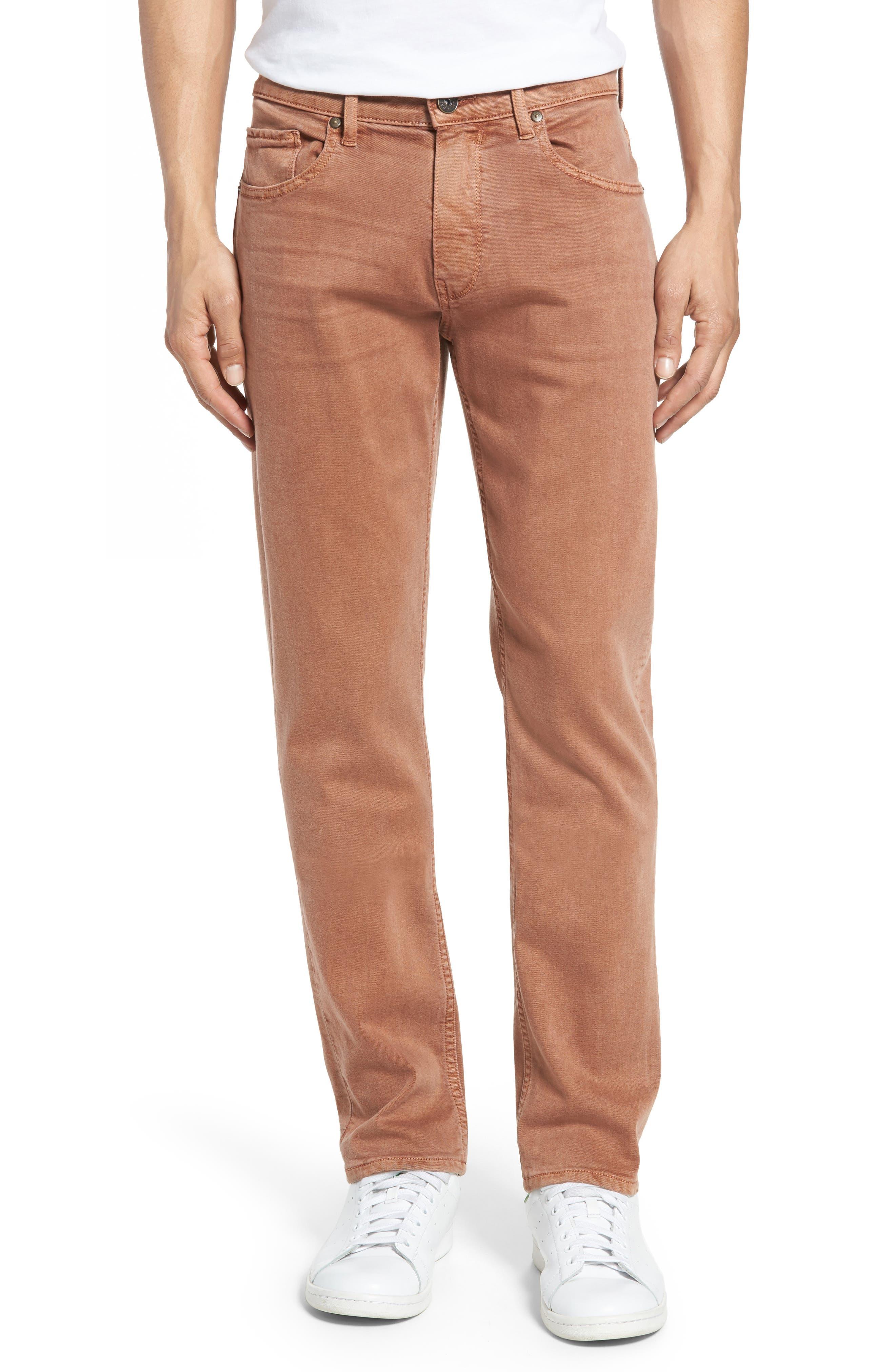 Main Image - PAIGE Transcend - Federal Slim Straight Leg Jeans (Vintage Bronzed)