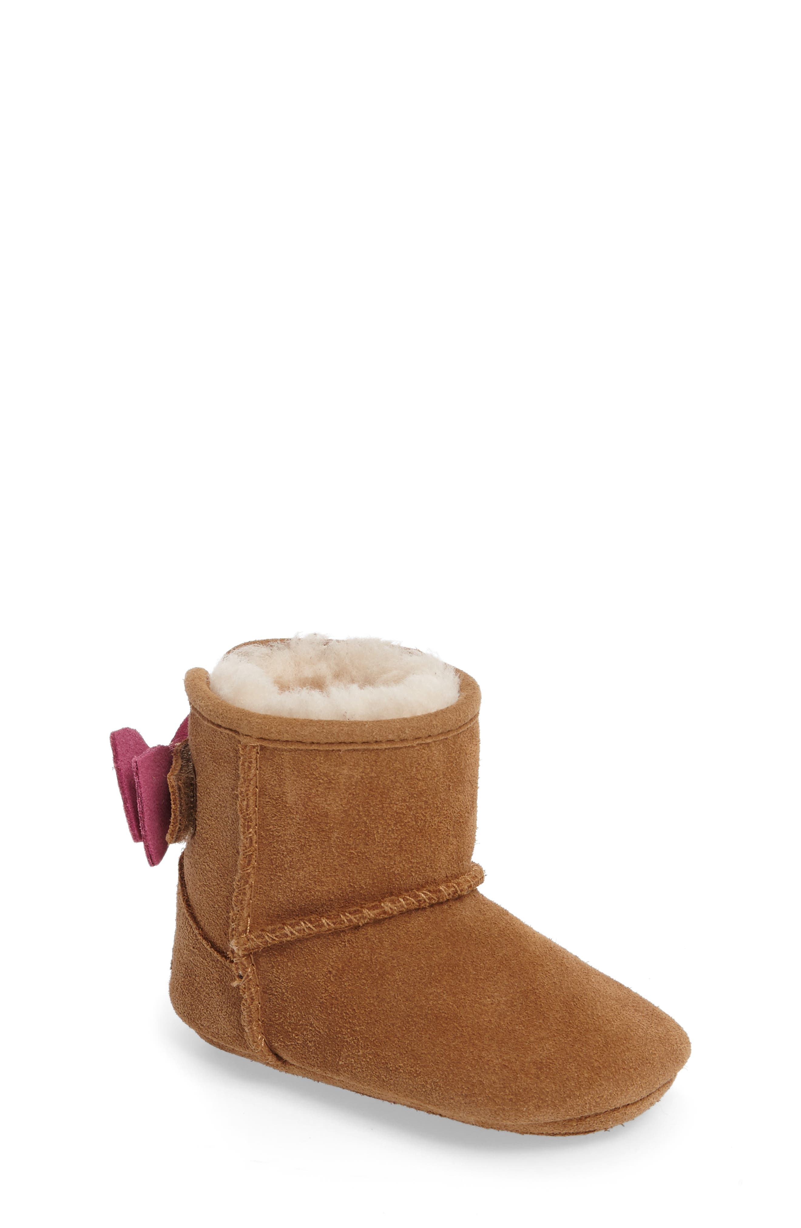 Jesse Bow II Dots Boot,                             Main thumbnail 1, color,                             Chestnut