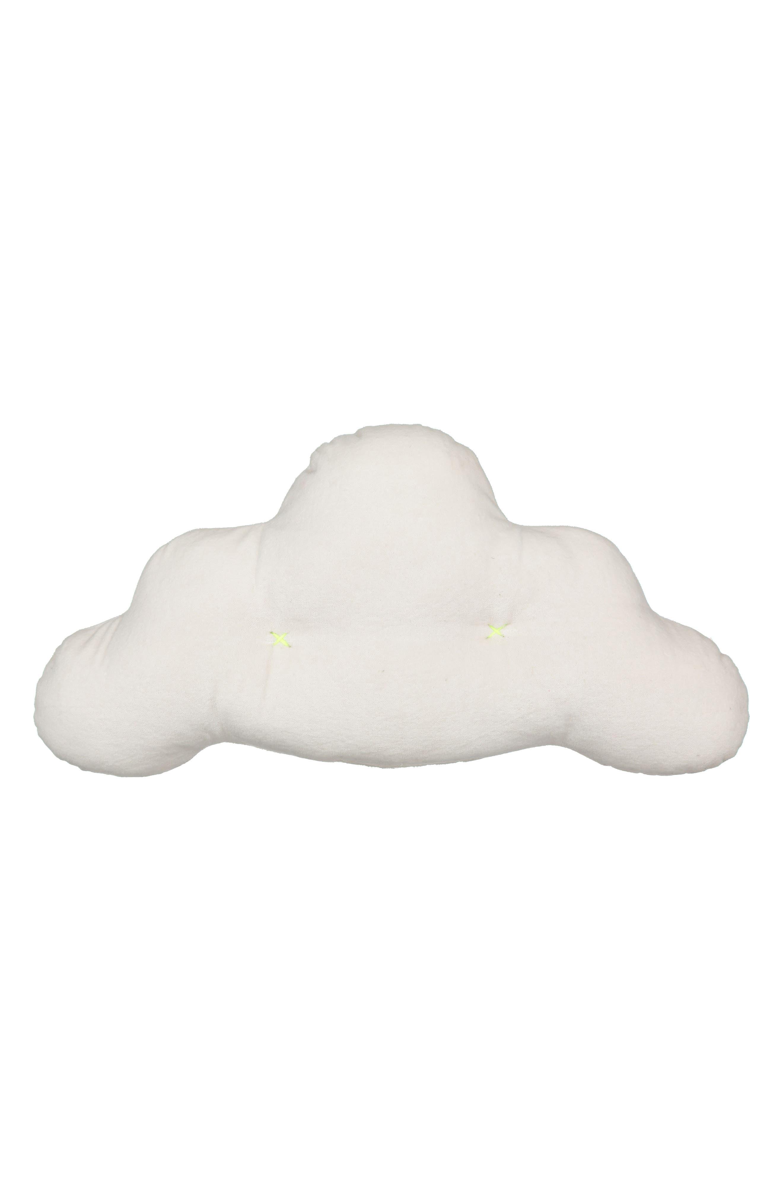 Velvet Cloud Pillow,                         Main,                         color, White