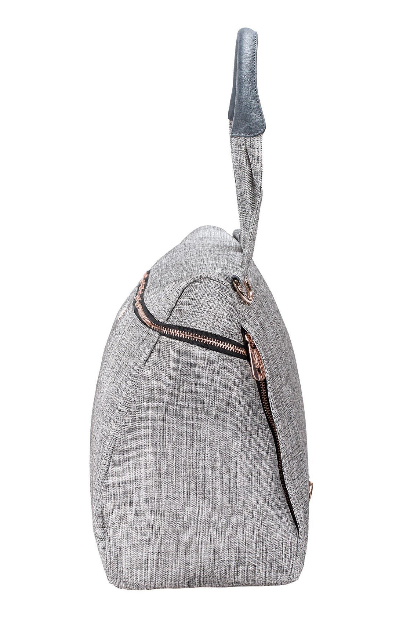 Glam Rosie Diaper Bag,                             Alternate thumbnail 4, color,                             Anthracite Glitter