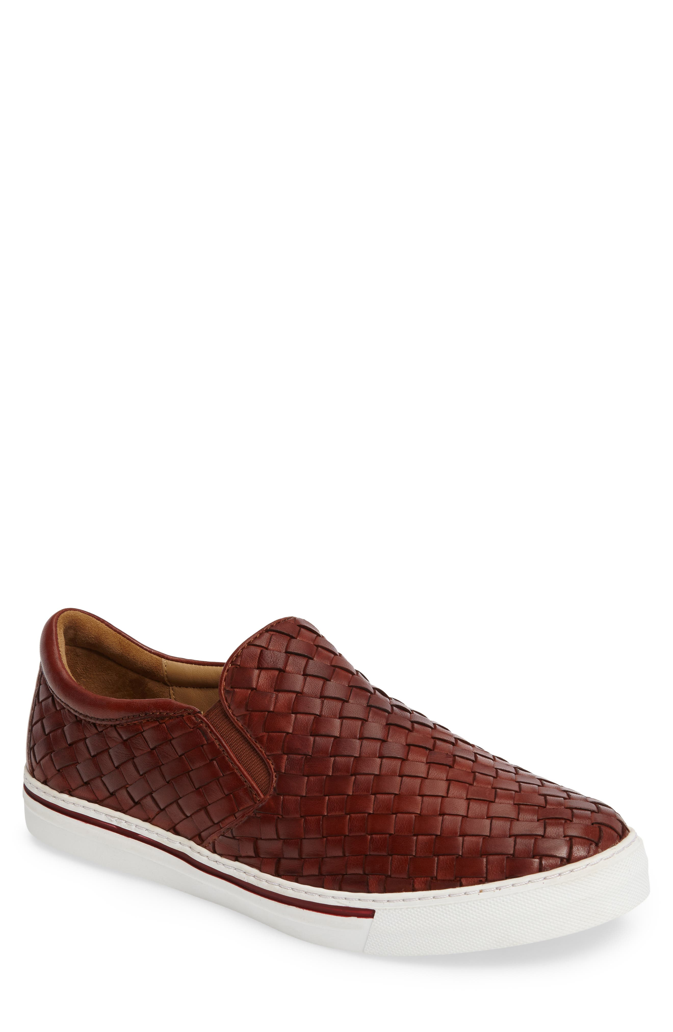 James Slip-On,                         Main,                         color, Dark Luggage Leather