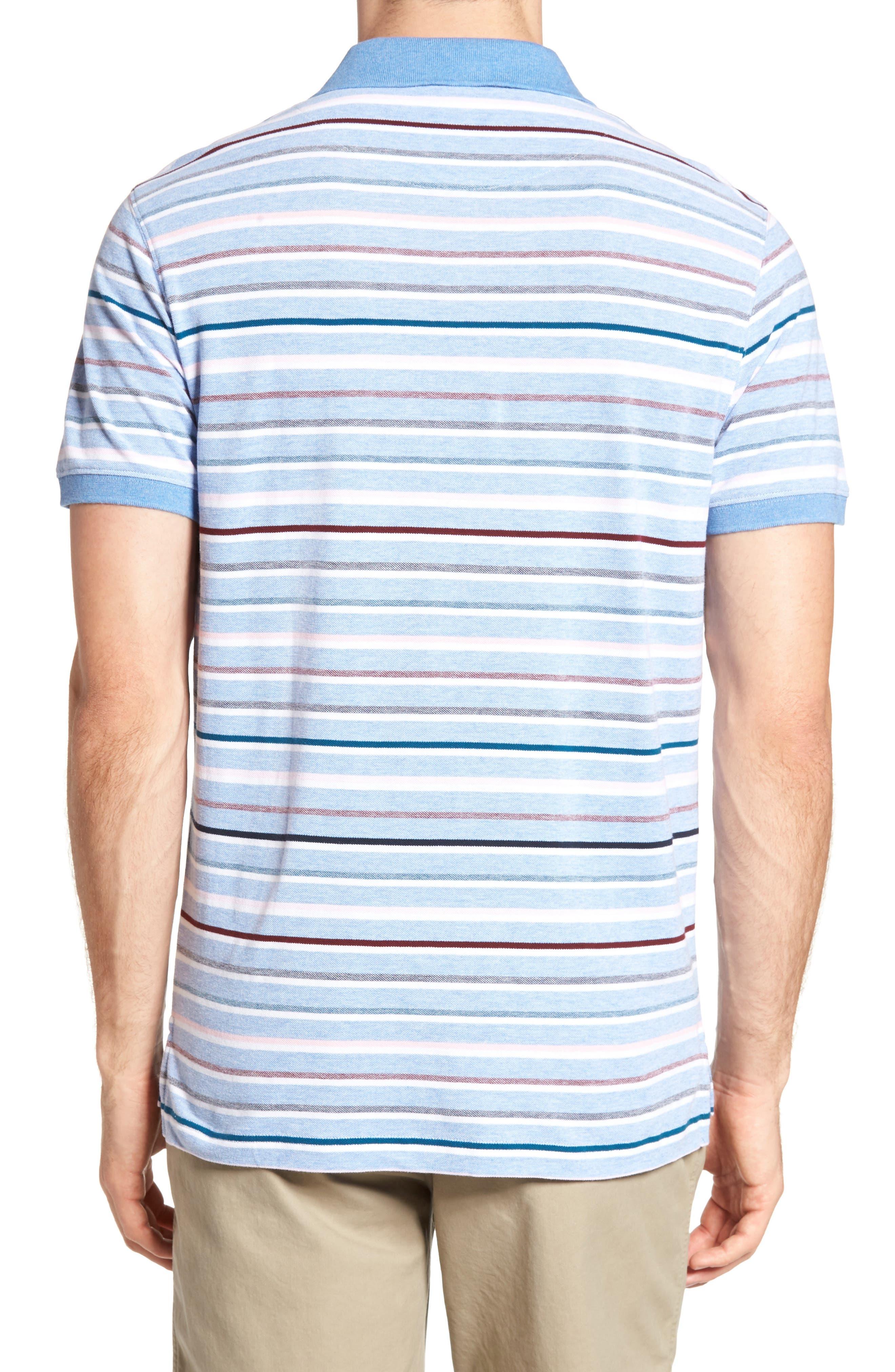 Gowan Hill Sports Fit Cotton Polo,                             Alternate thumbnail 2, color,                             Stonewash