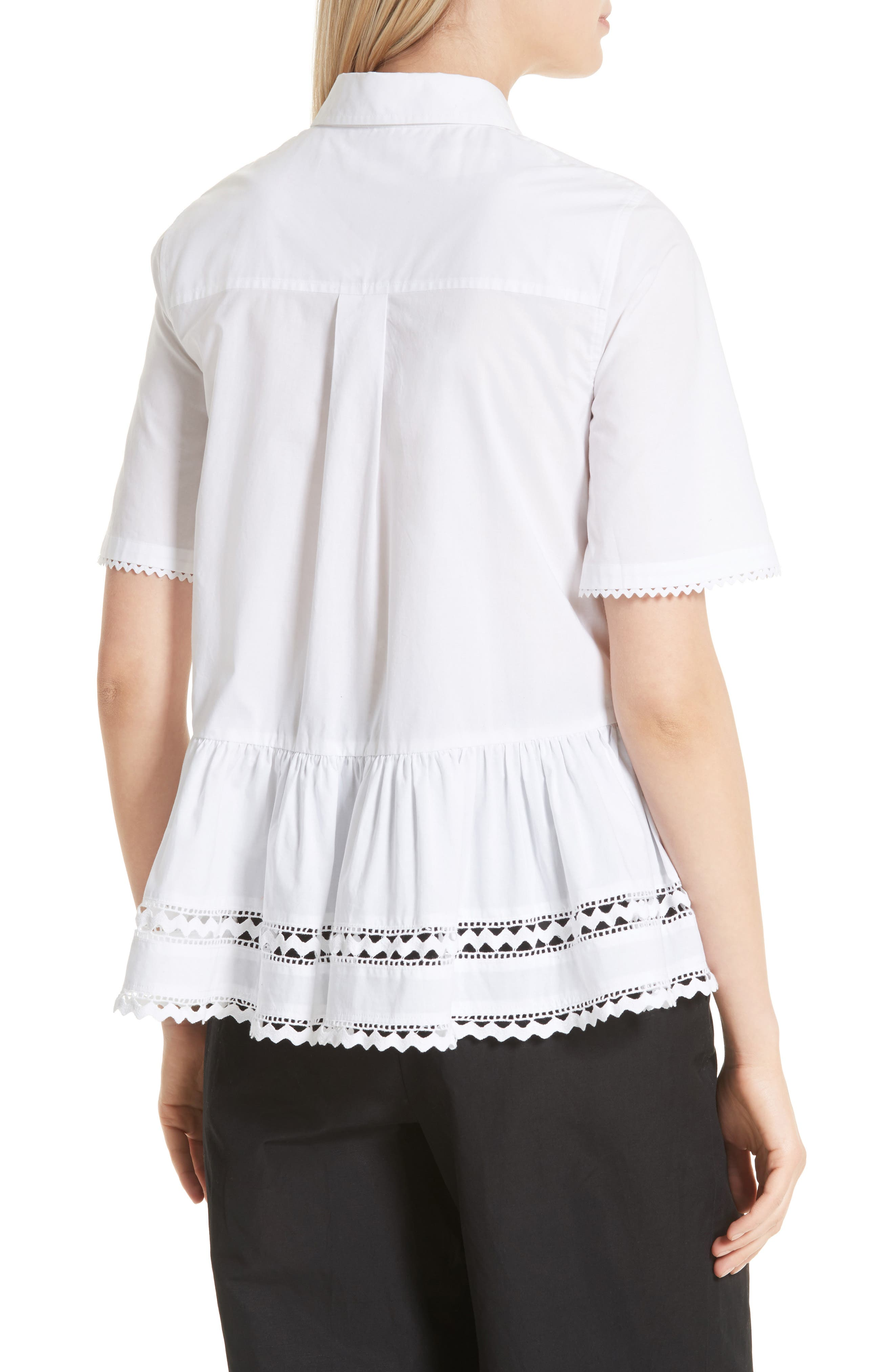 Alternate Image 2  - kate spade new york lace inset peplum top