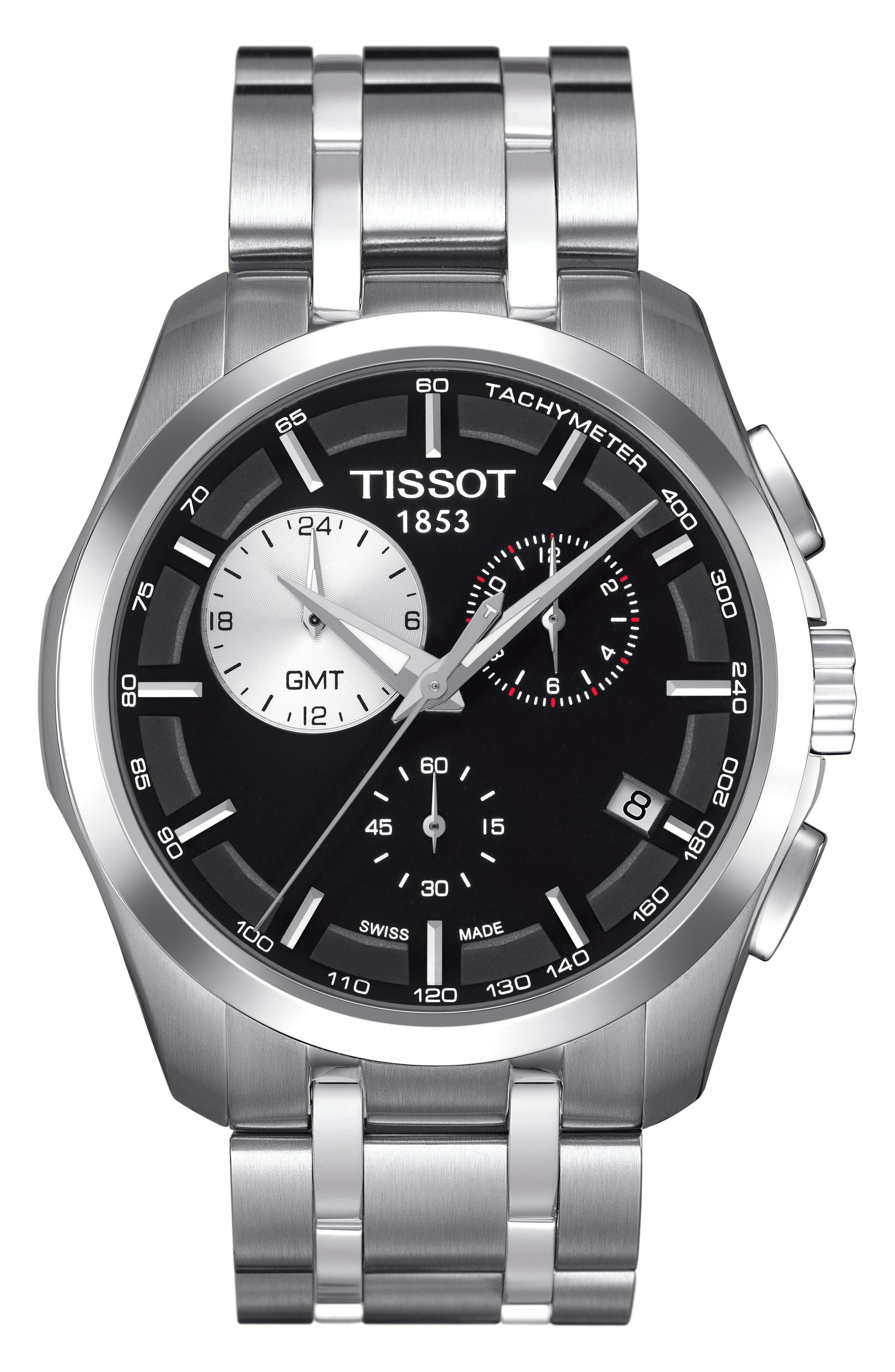 Alternate Image 1 Selected - Tissot Couturier Chronograph Bracelet, 41mm