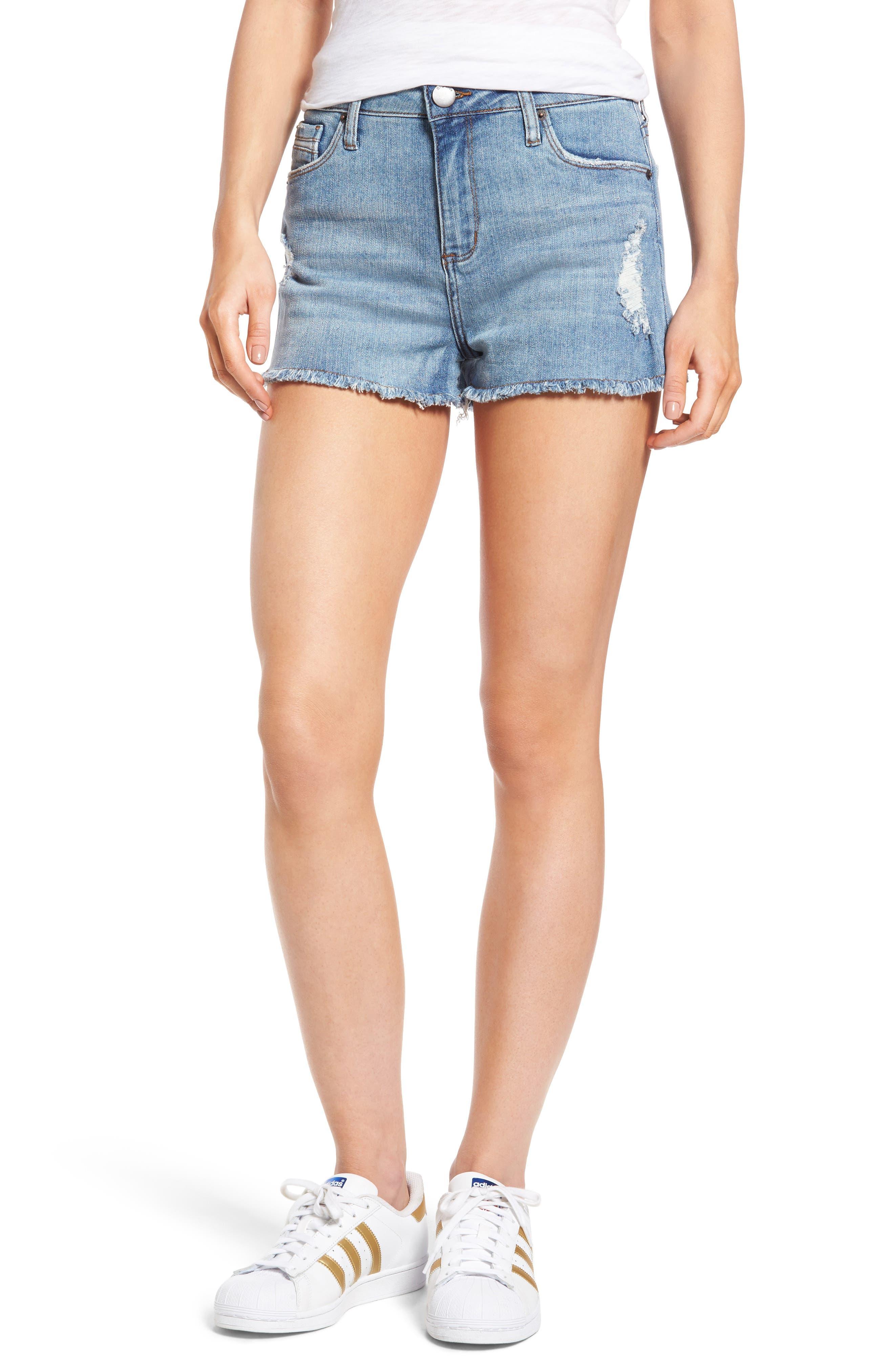 Rose Bowl Denim Shorts,                         Main,                         color, Wtmrl Westmoreland