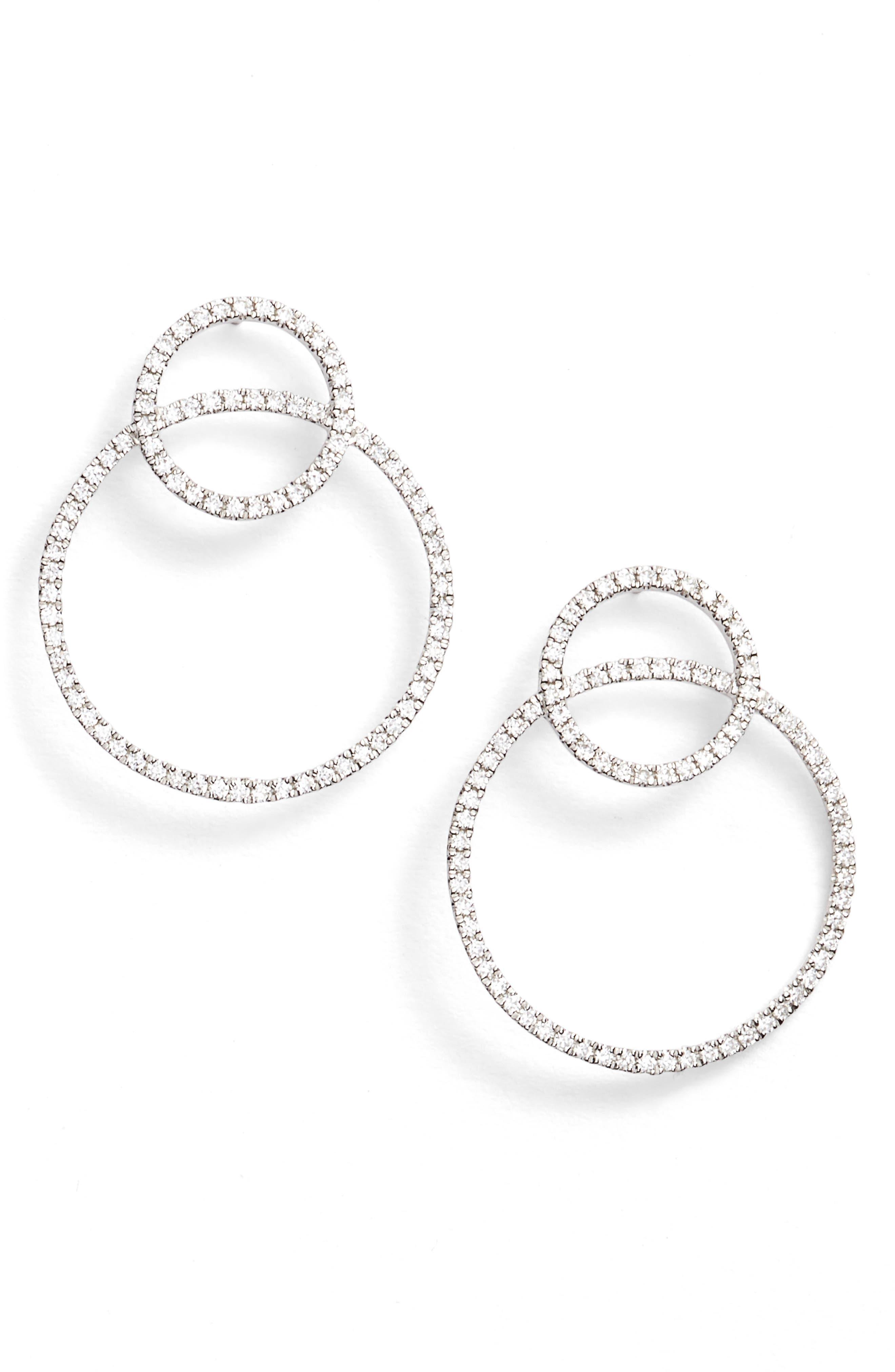 BONY LEVY Prism Double Circle Diamond Earrings