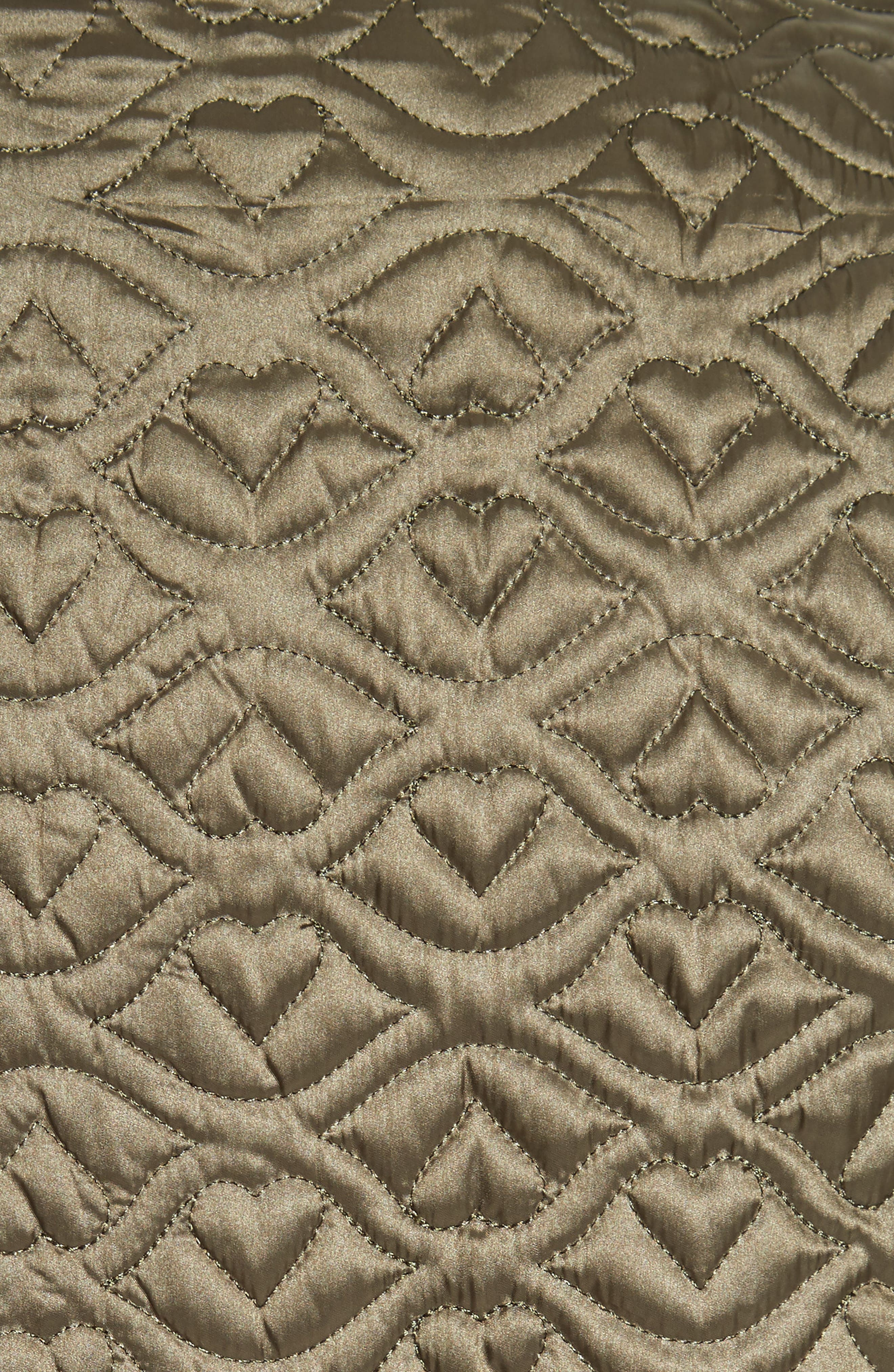 Quilted Coat,                             Alternate thumbnail 5, color,                             Army Green