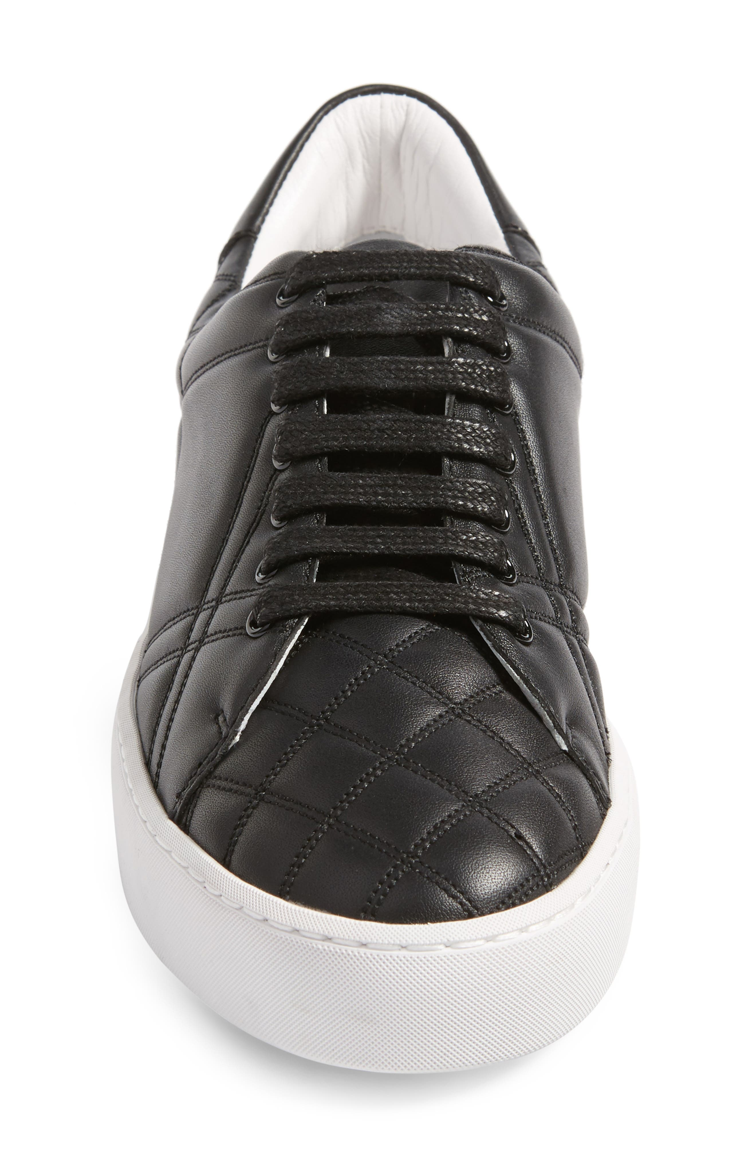Alternate Image 4  - Burberry Check Quilted Leather Sneaker (Women)