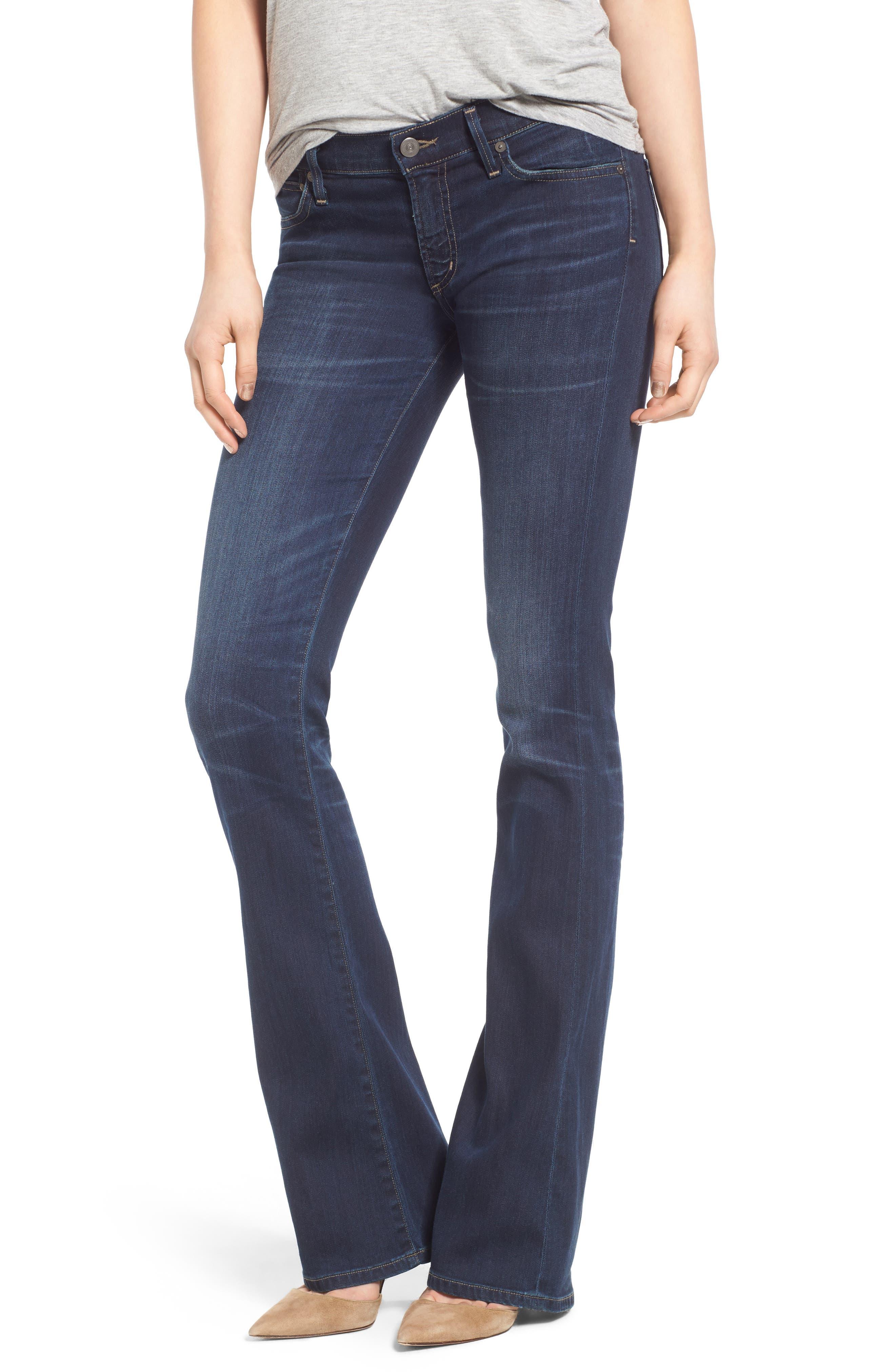 Emmanuelle Slim Bootcut Jeans,                         Main,                         color, Ellis