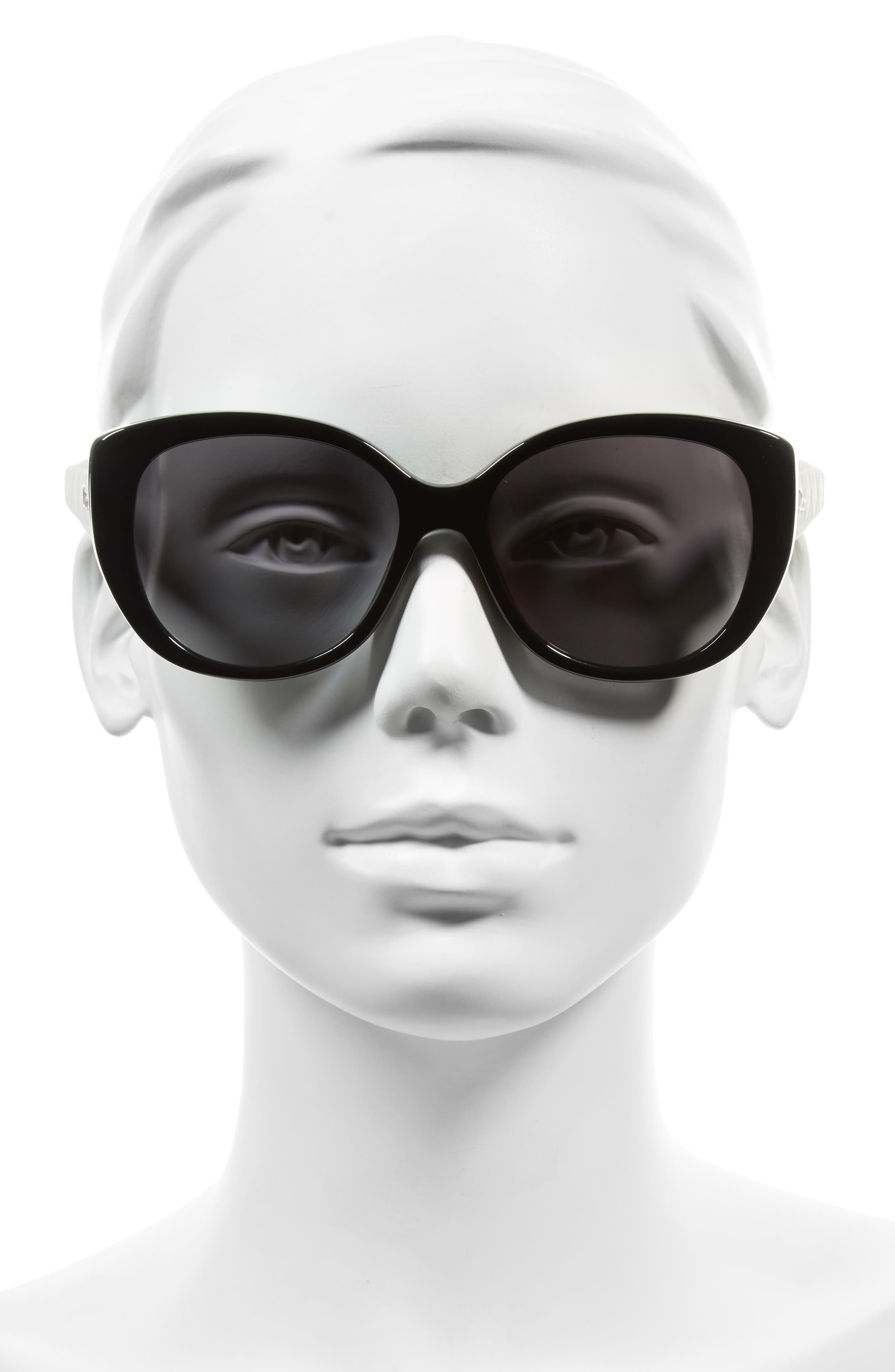 Alternate Image 2  - Dior Lady 55mm Cat Eye Sunglasses