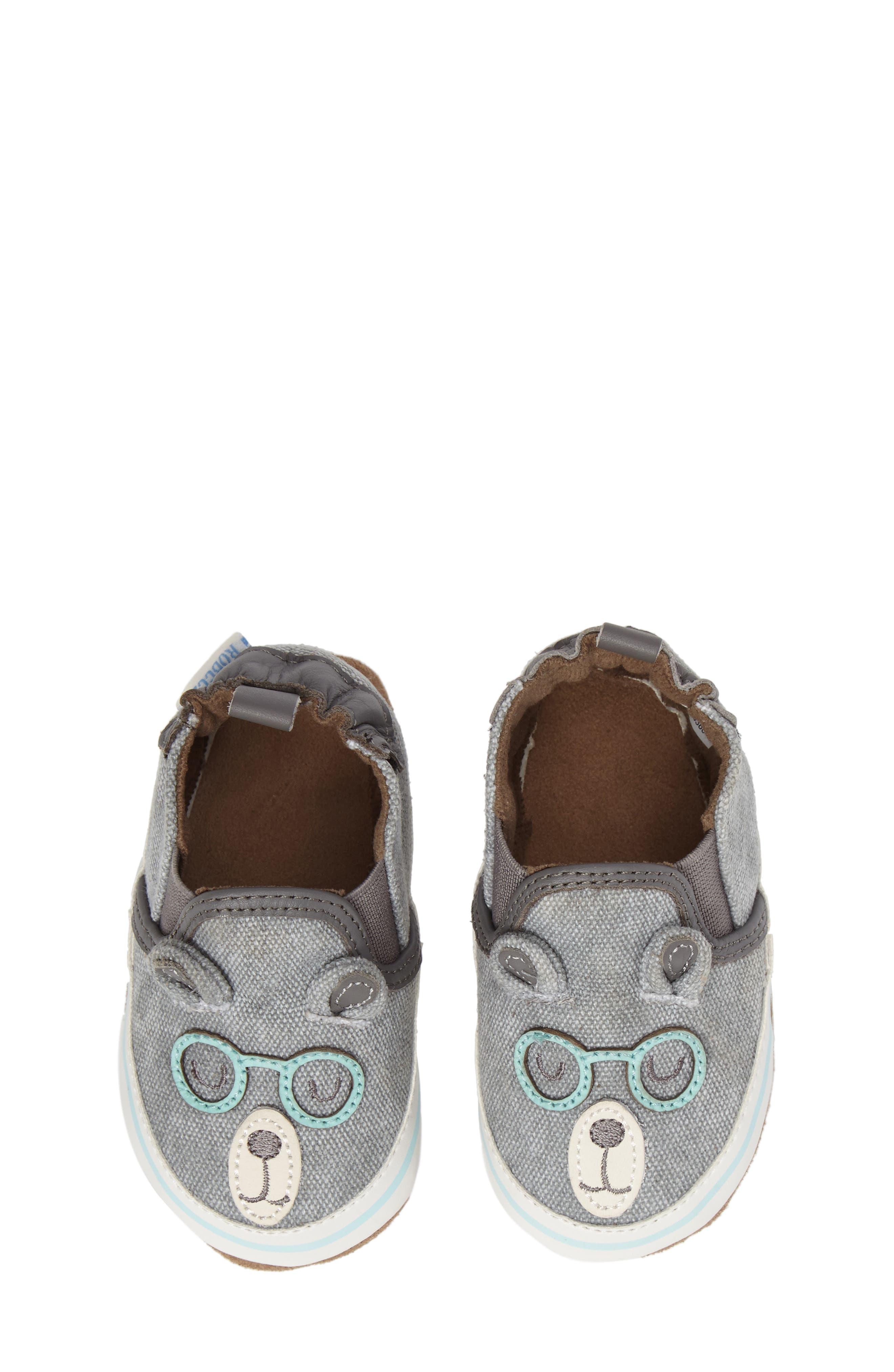 Alternate Image 5  - Robeez® 'Brainy Bear' Crib Shoe (Baby & Walker)