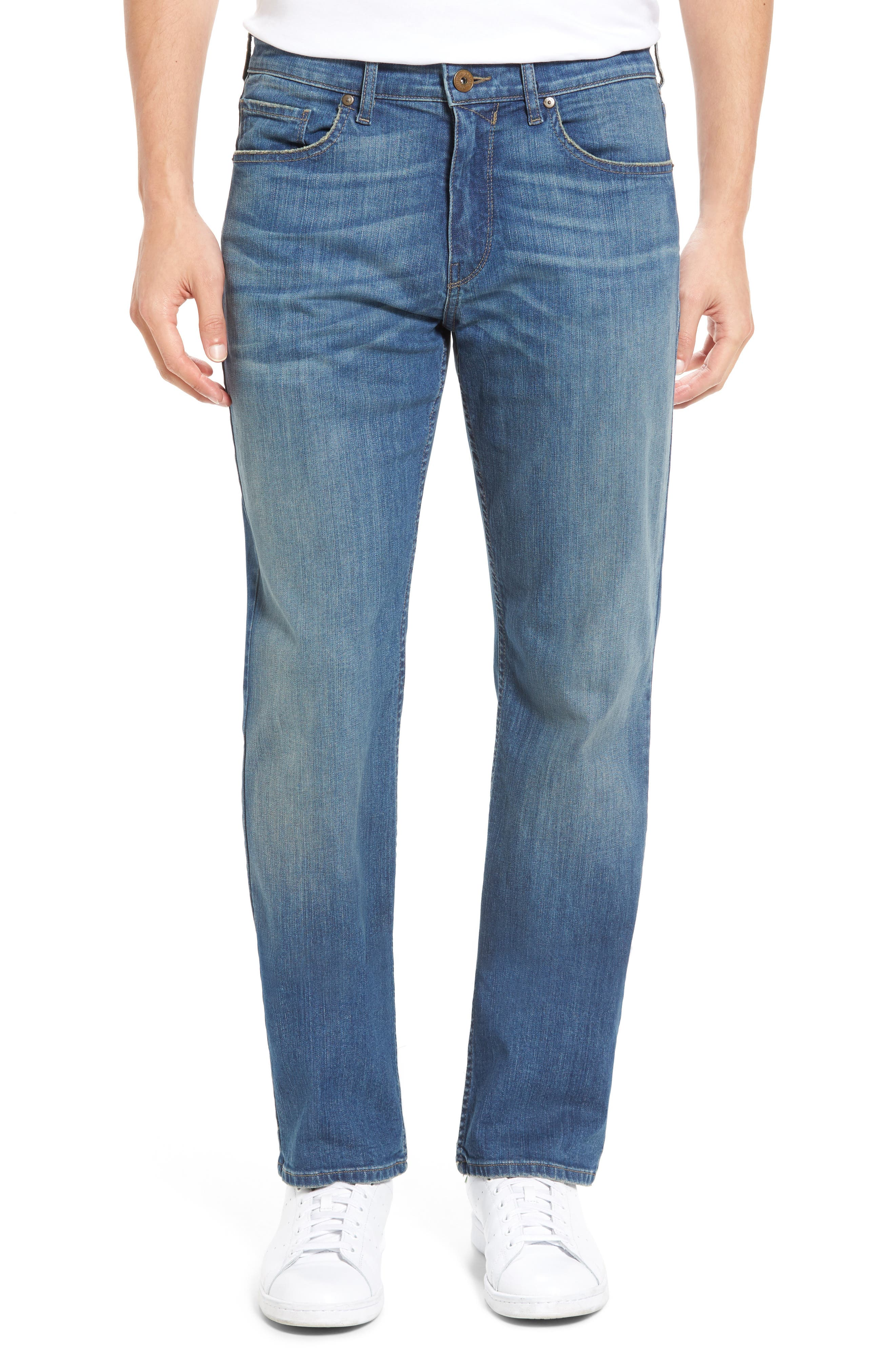 Main Image - PAIGE Legacy - Doheny Relaxed Fit Jeans (Cash)