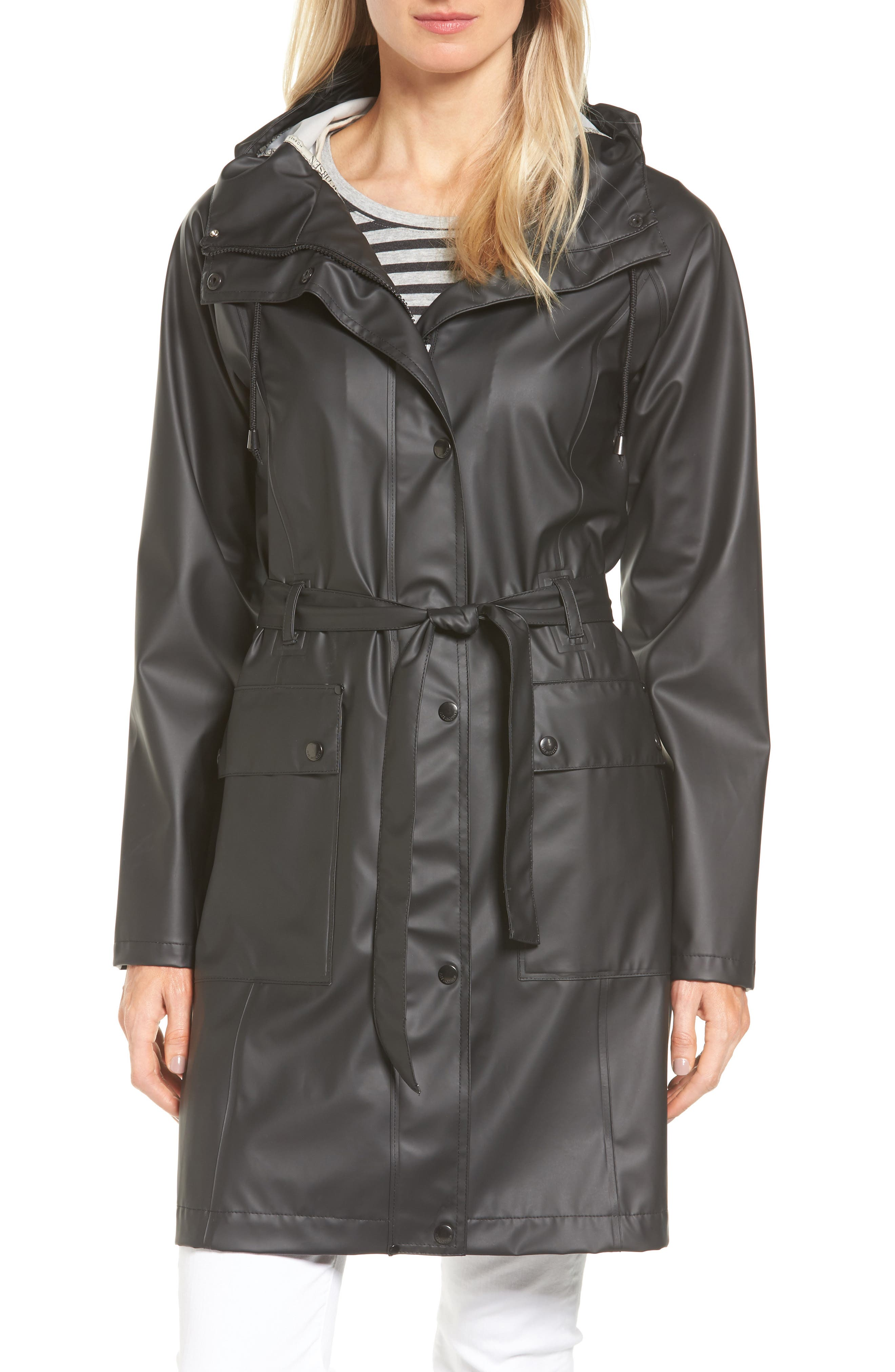 Hornbæk Hooded Raincoat,                         Main,                         color, Black