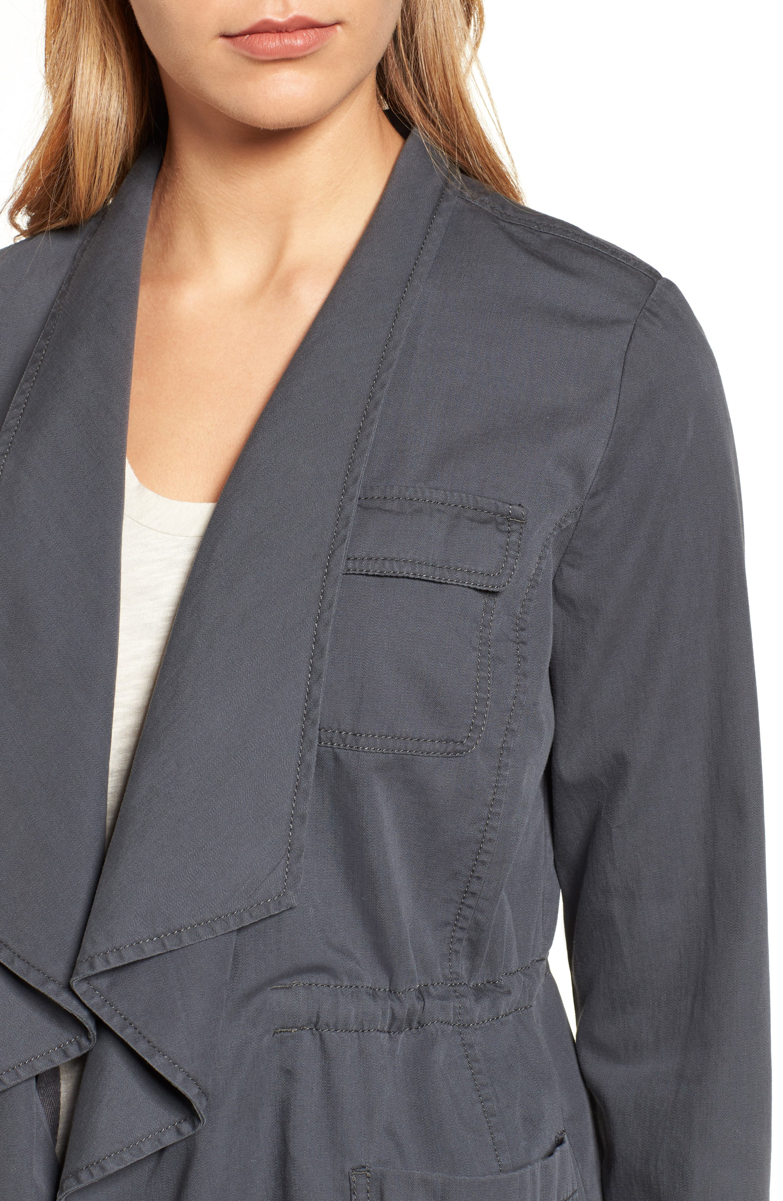 Alternate Image 4  - Caslon® Draped Utility Jacket (Regular & Petite)