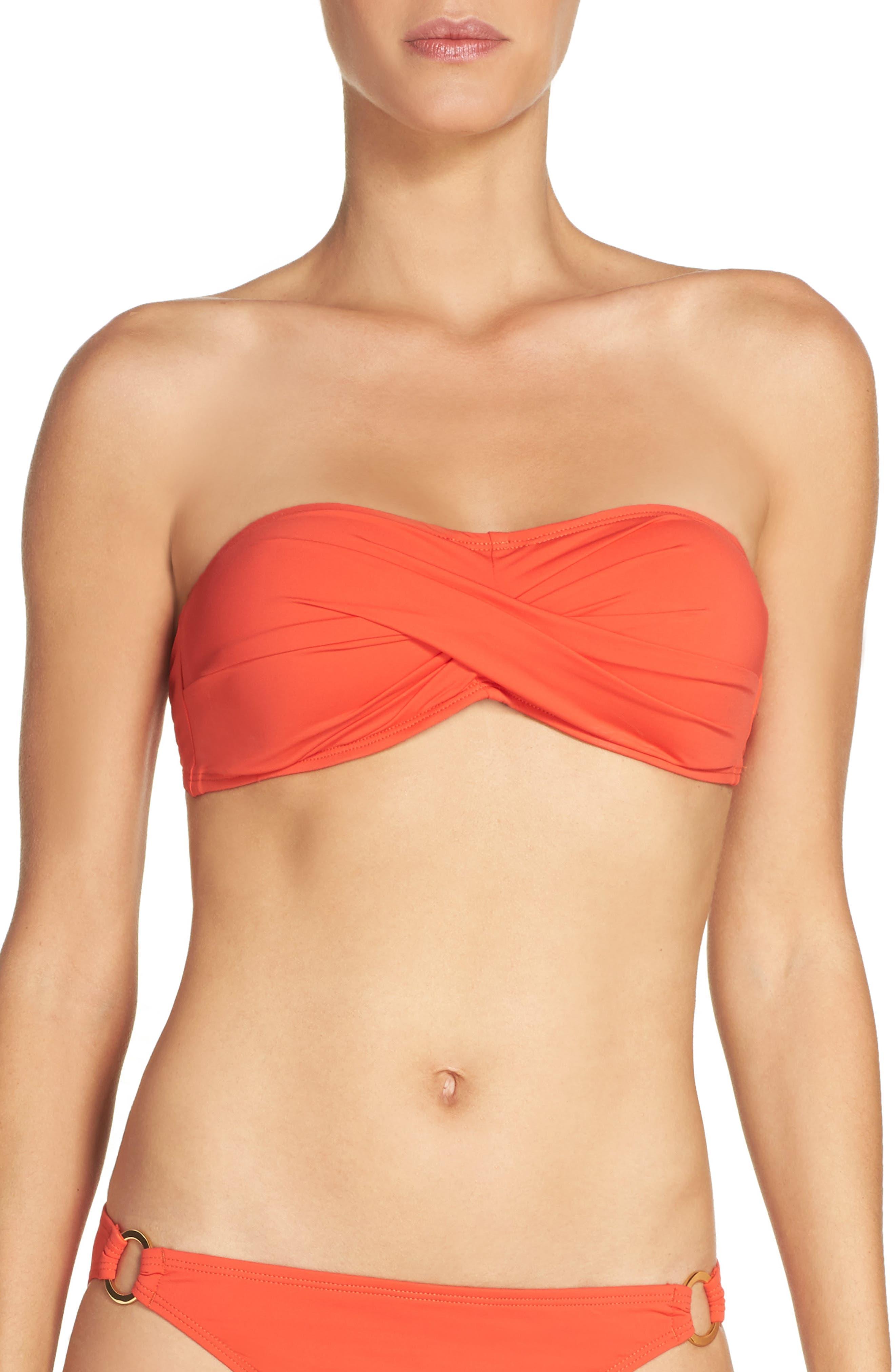 TOMMY BAHAMA Pearl Twist Front Bandeau Bikini Top