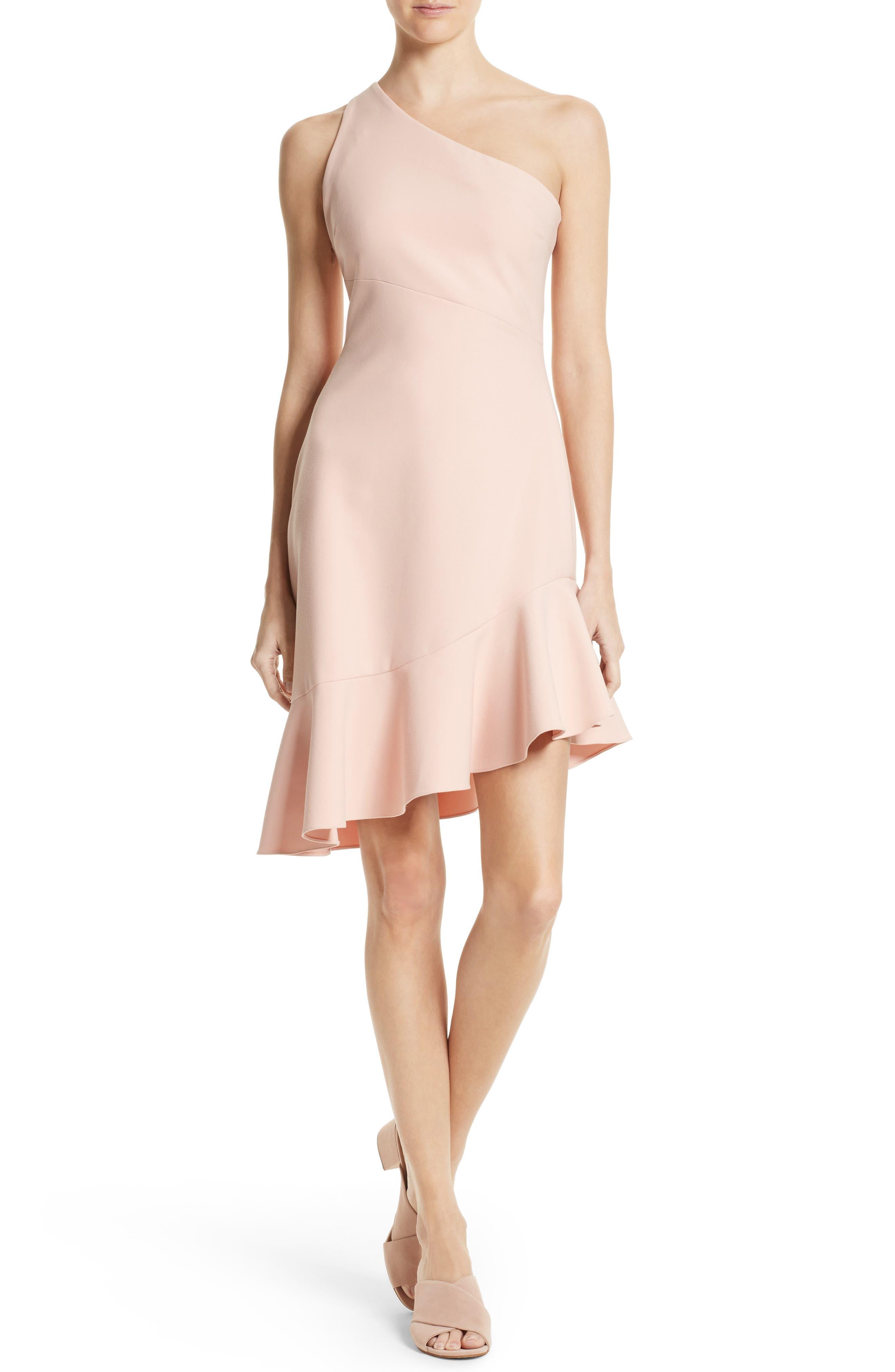 CINQ À SEPT Stella Asymmetrical One-Shoulder Dress