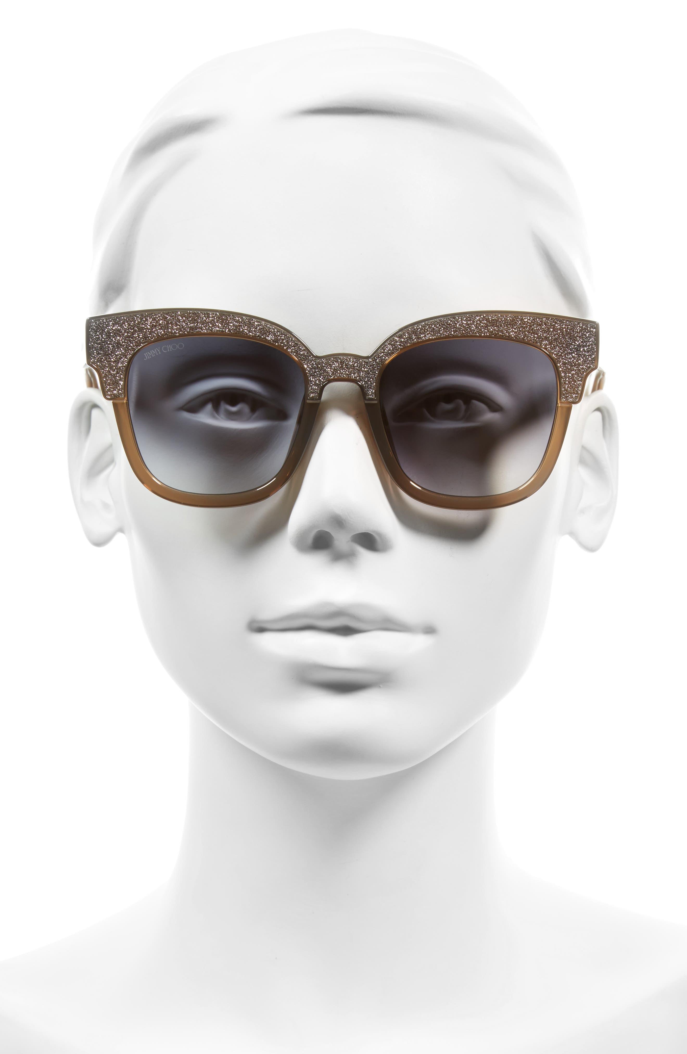 Mayelas 50mm Cat Eye Sunglasses,                             Alternate thumbnail 2, color,                             Brown/ Glitter