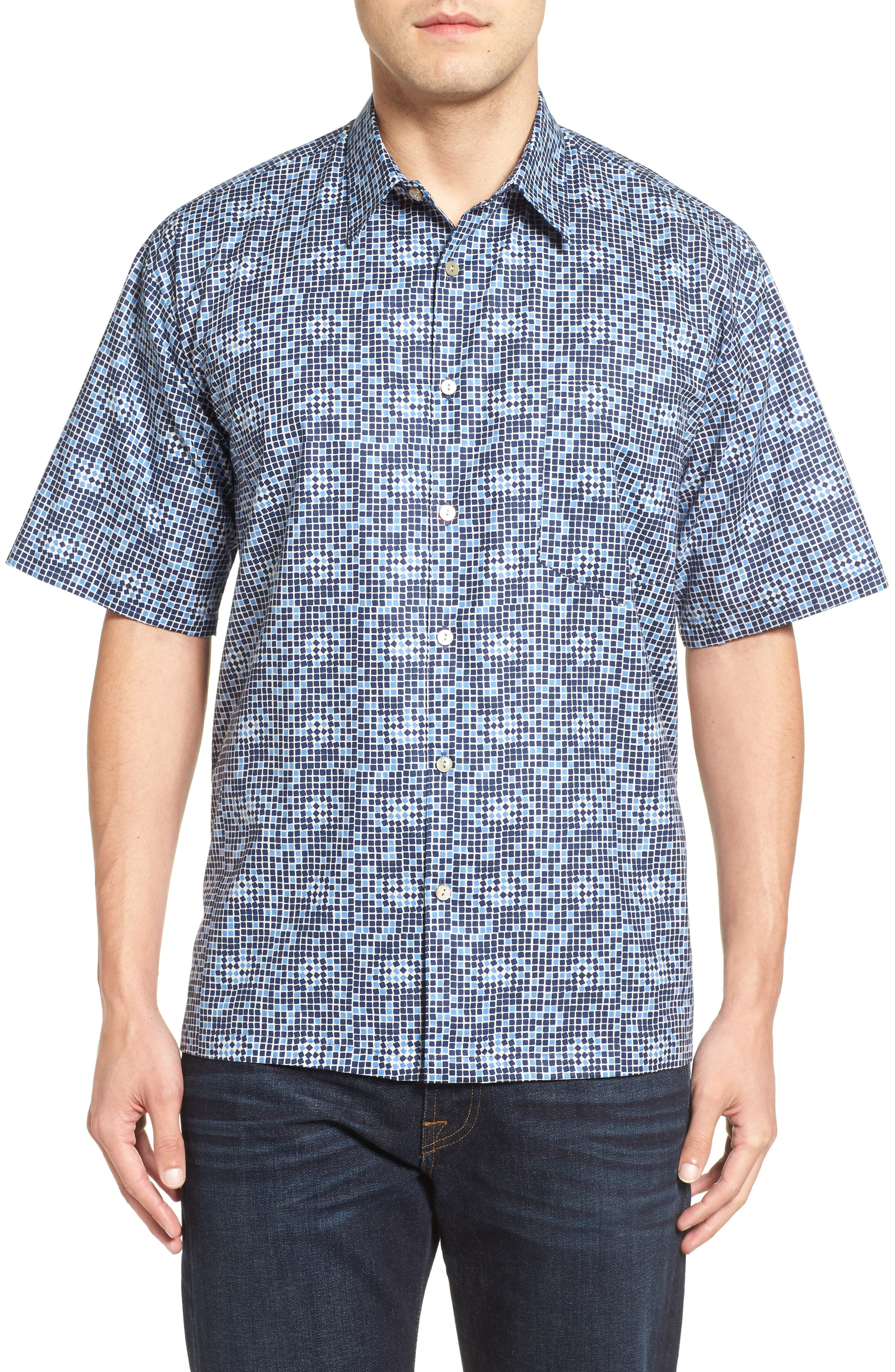 Tori Richard Tessellation Short Sleeve Classic Fit Sport Shirt