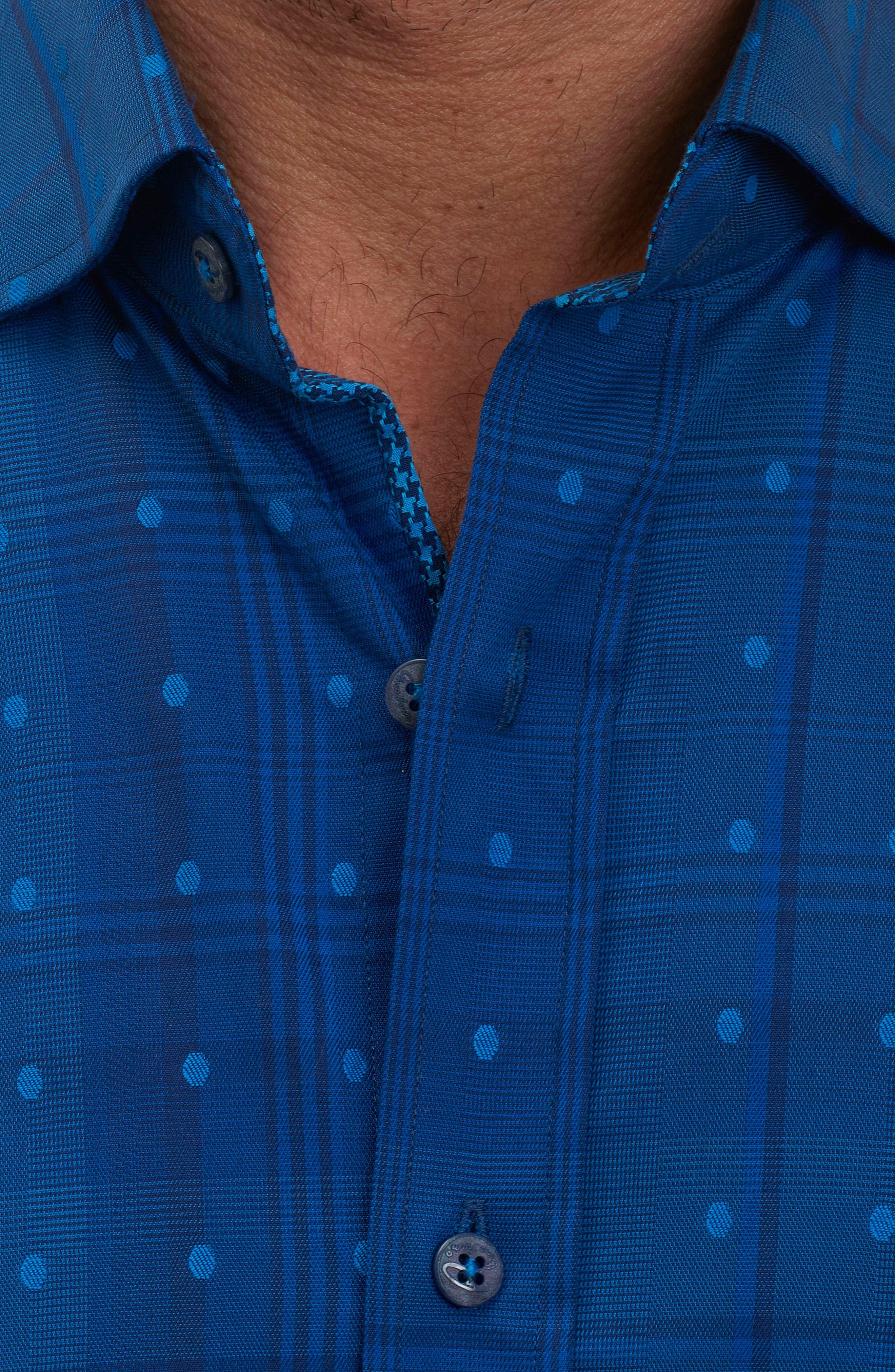 Alternate Image 4  - Robert Graham Pete Tailored Fit Print Sport Shirt
