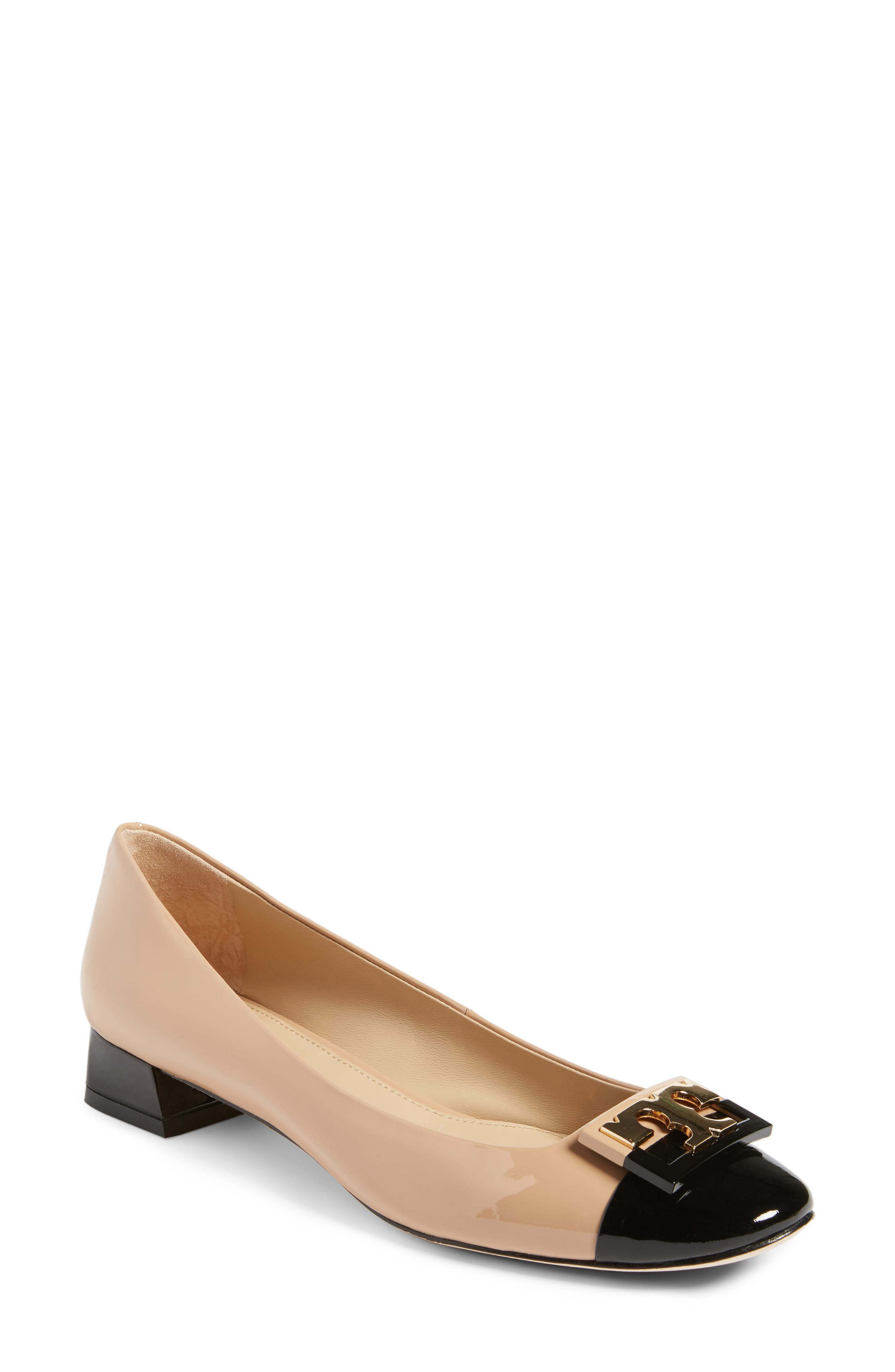 Gigi Pump,                             Main thumbnail 1, color,                             Tory Beige/ Black
