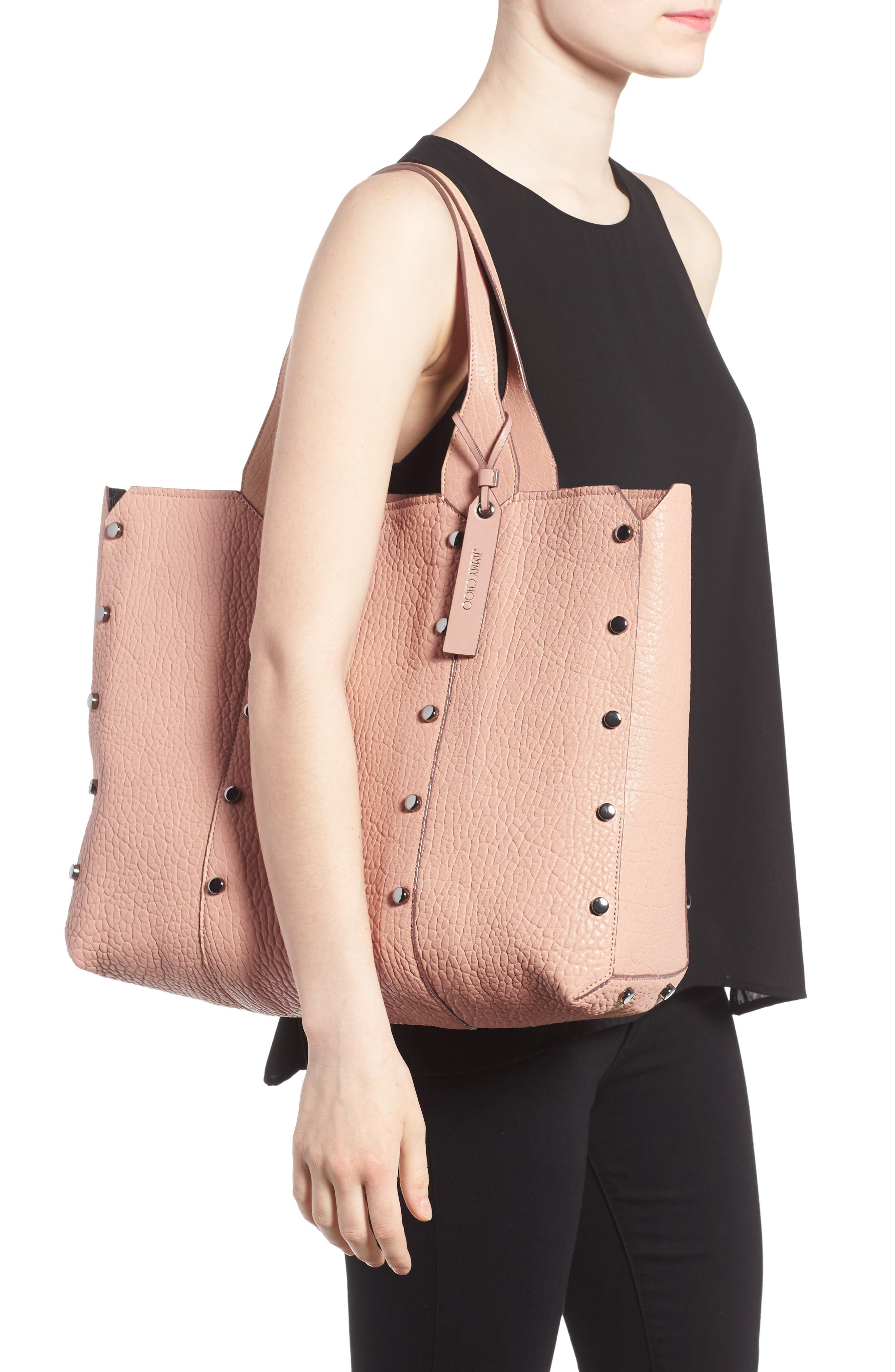 Lockett Leather Shopper,                             Alternate thumbnail 2, color,                             Ballet Pink