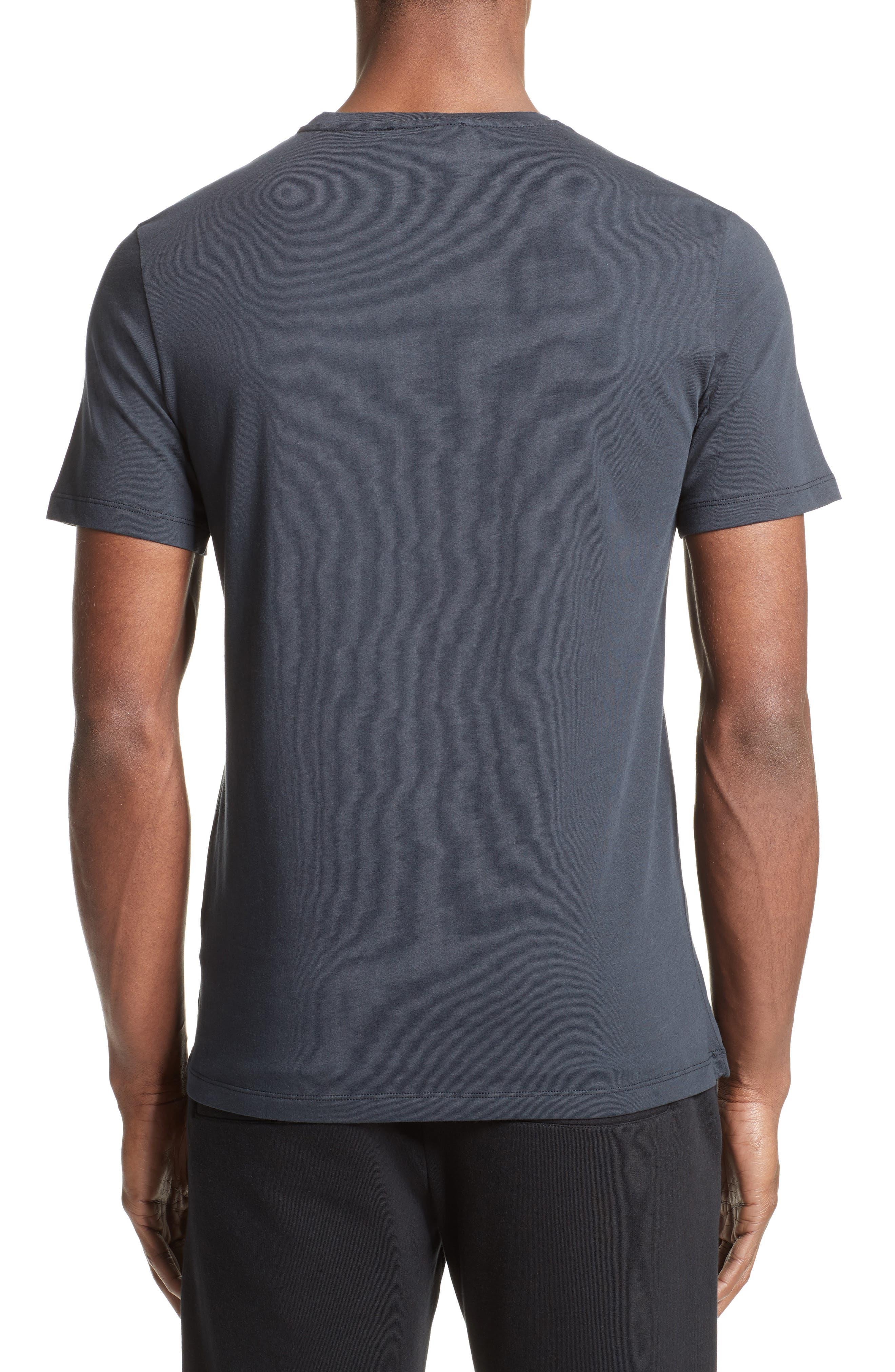Half Medusa Patch T-Shirt,                             Alternate thumbnail 2, color,                             Navy/ Gold