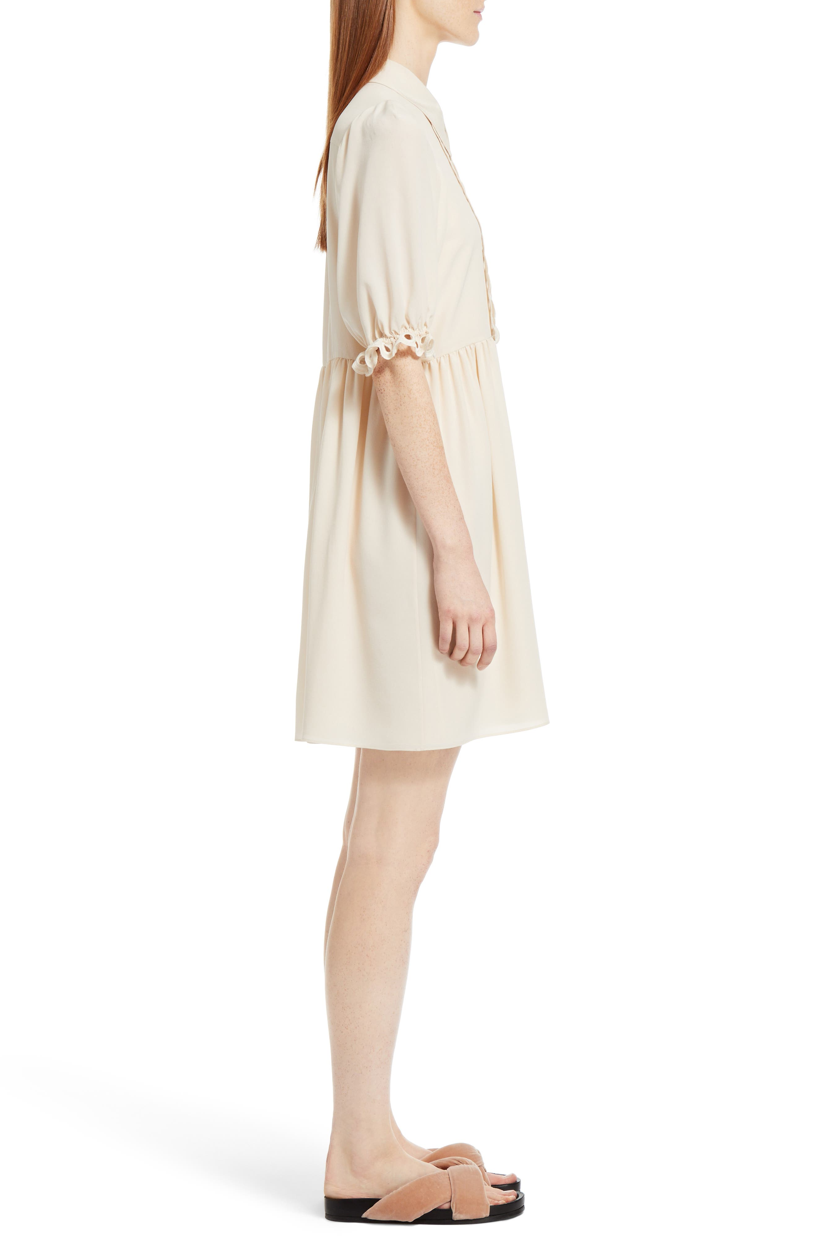 Alternate Image 4  - Chloé Eyelet Silk Shirtdress
