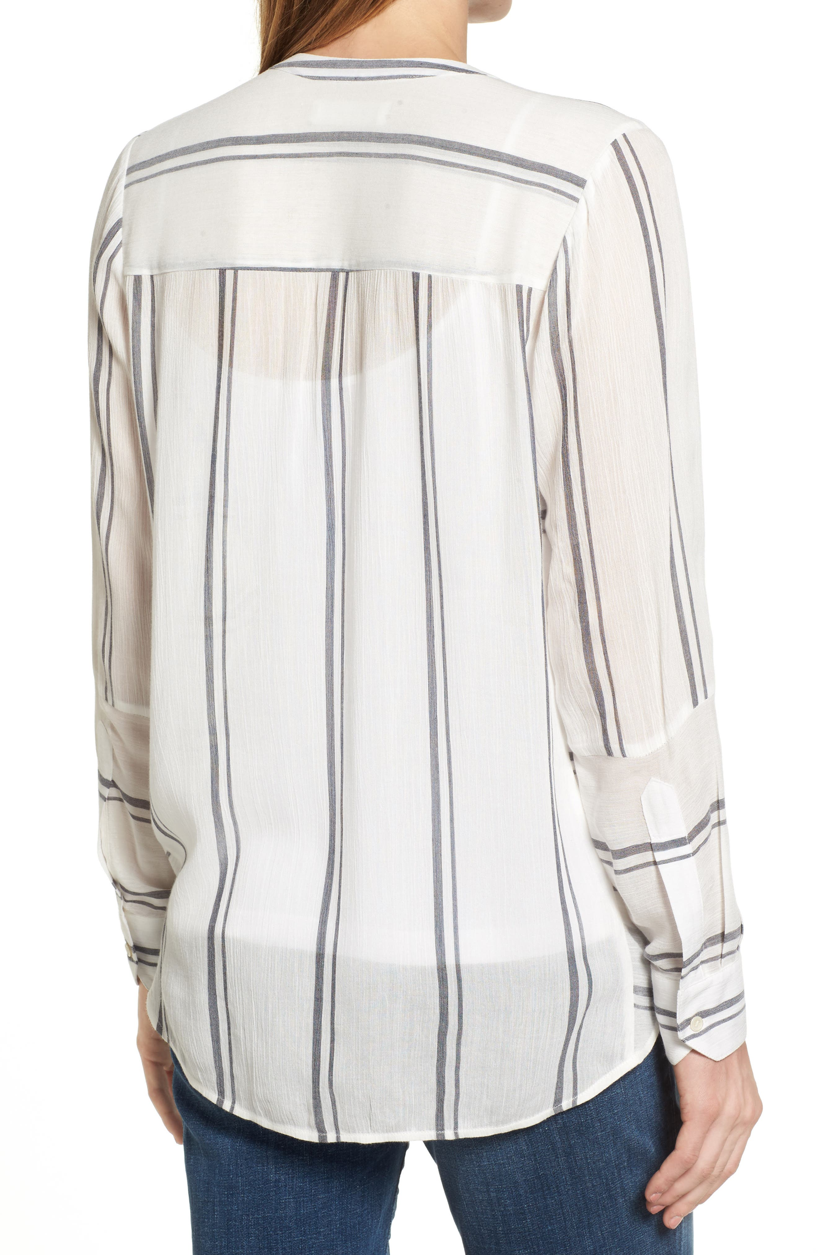 Alternate Image 2  - Two by Vince Camuto Parallel Stripe Henley Shirt