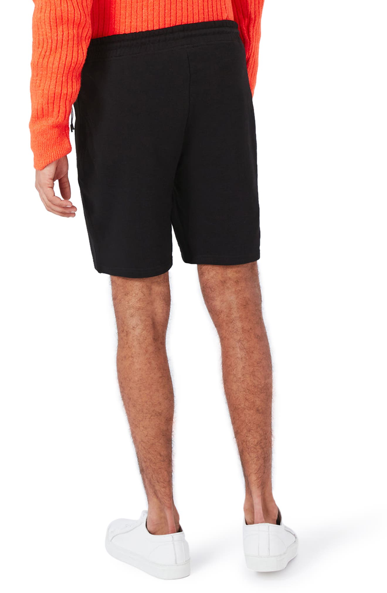 Textured Jersey Shorts,                             Alternate thumbnail 3, color,                             Black