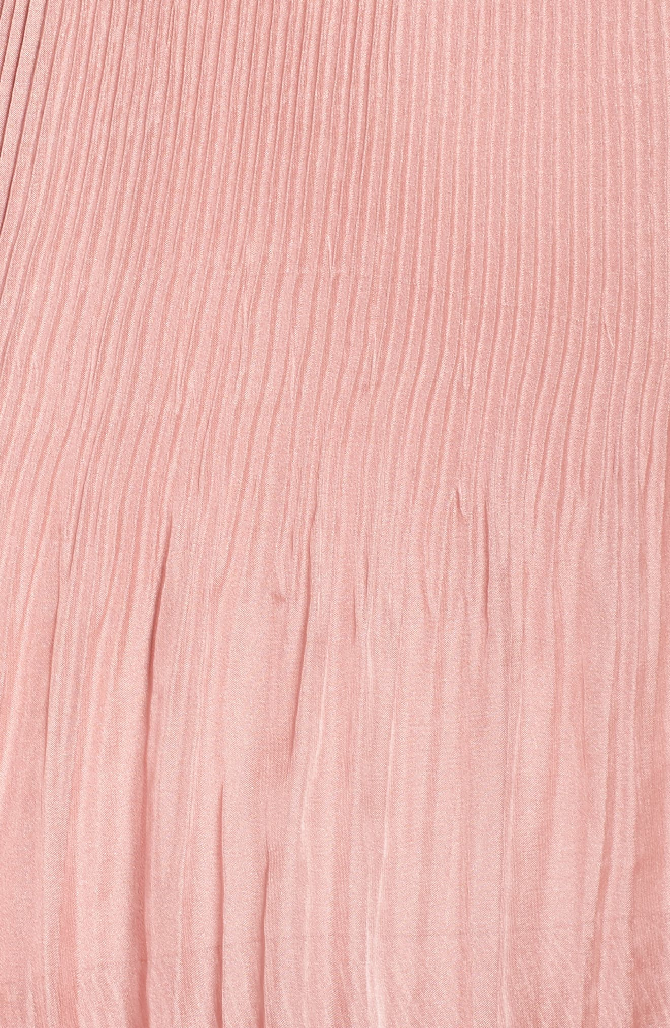 Cold Shoulder Ruffle Gown,                             Alternate thumbnail 5, color,                             Dusty Pink