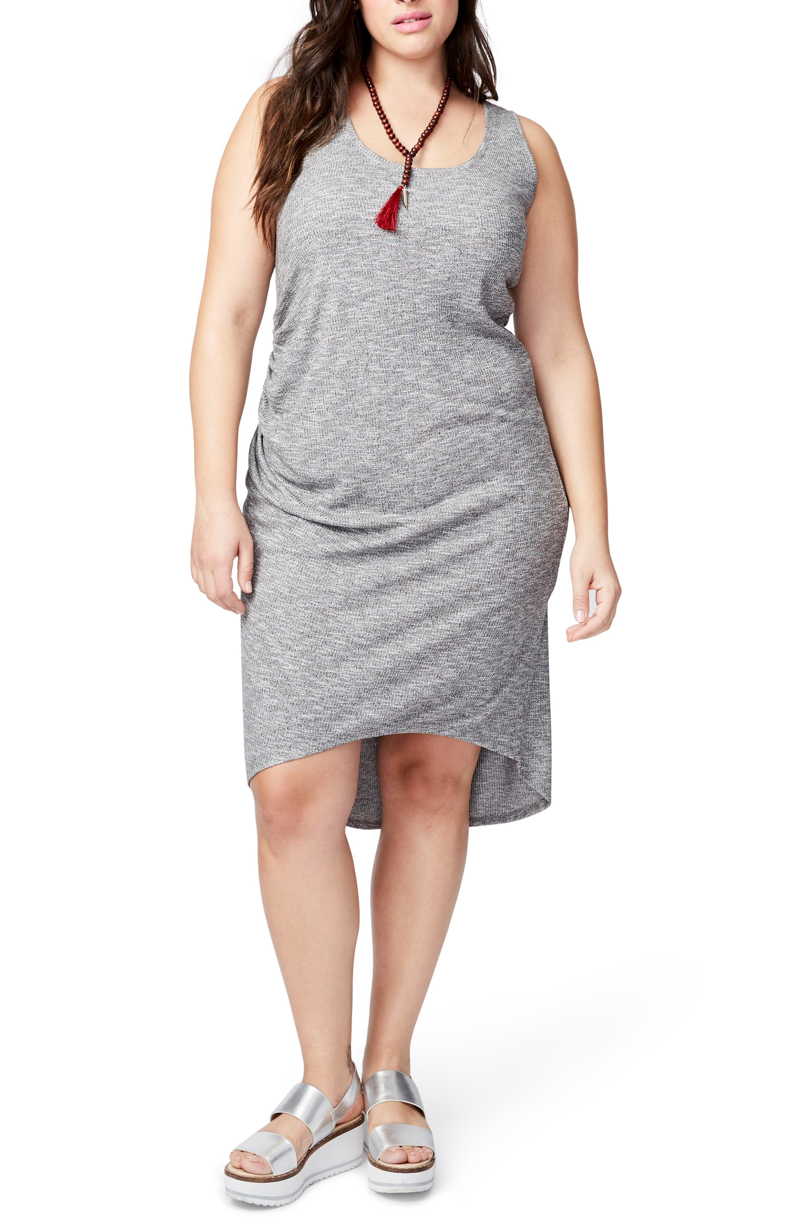 Michelle Tank Dress,                         Main,                         color, Heather Grey