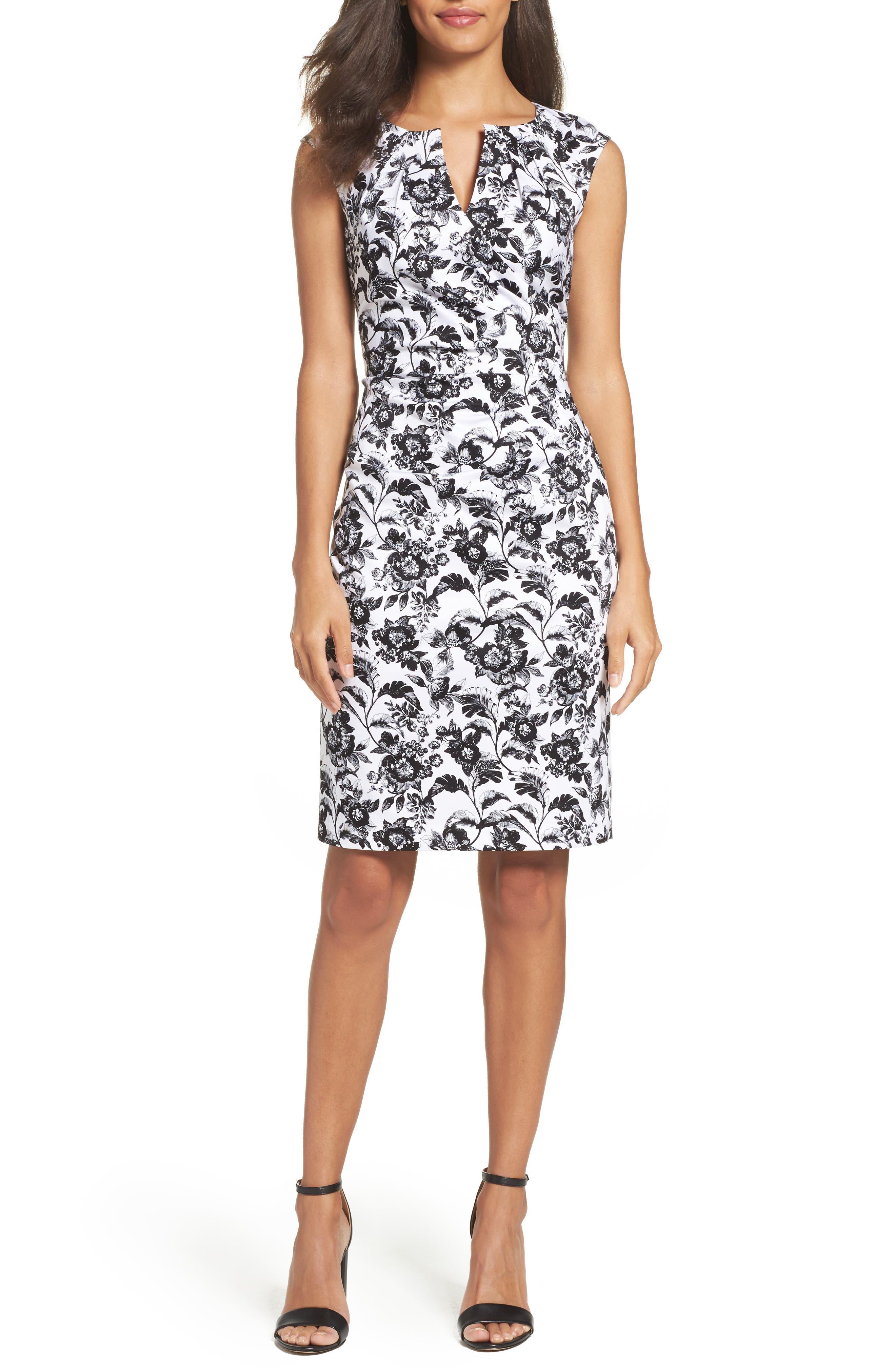 Adrianna Papell Print Sheath Dress