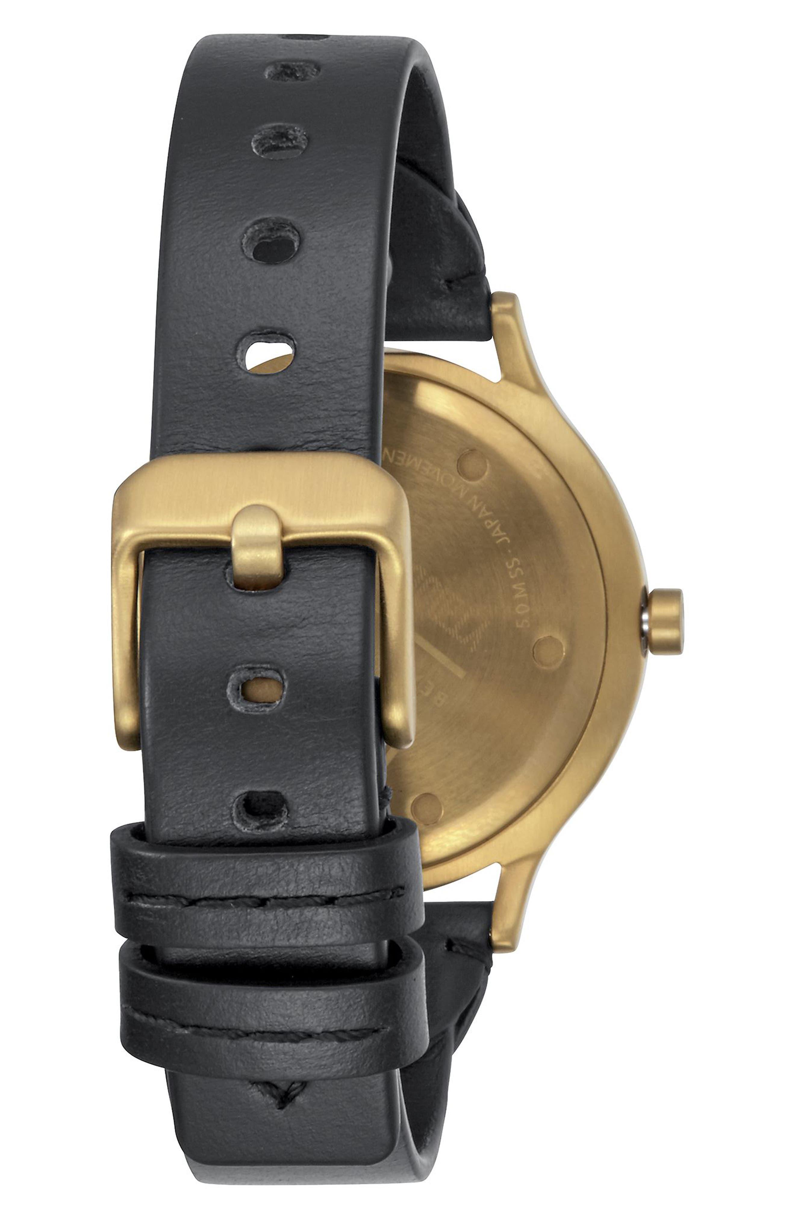 Alternate Image 2  - Nixon Sala Leather Strap Watch, 38mm
