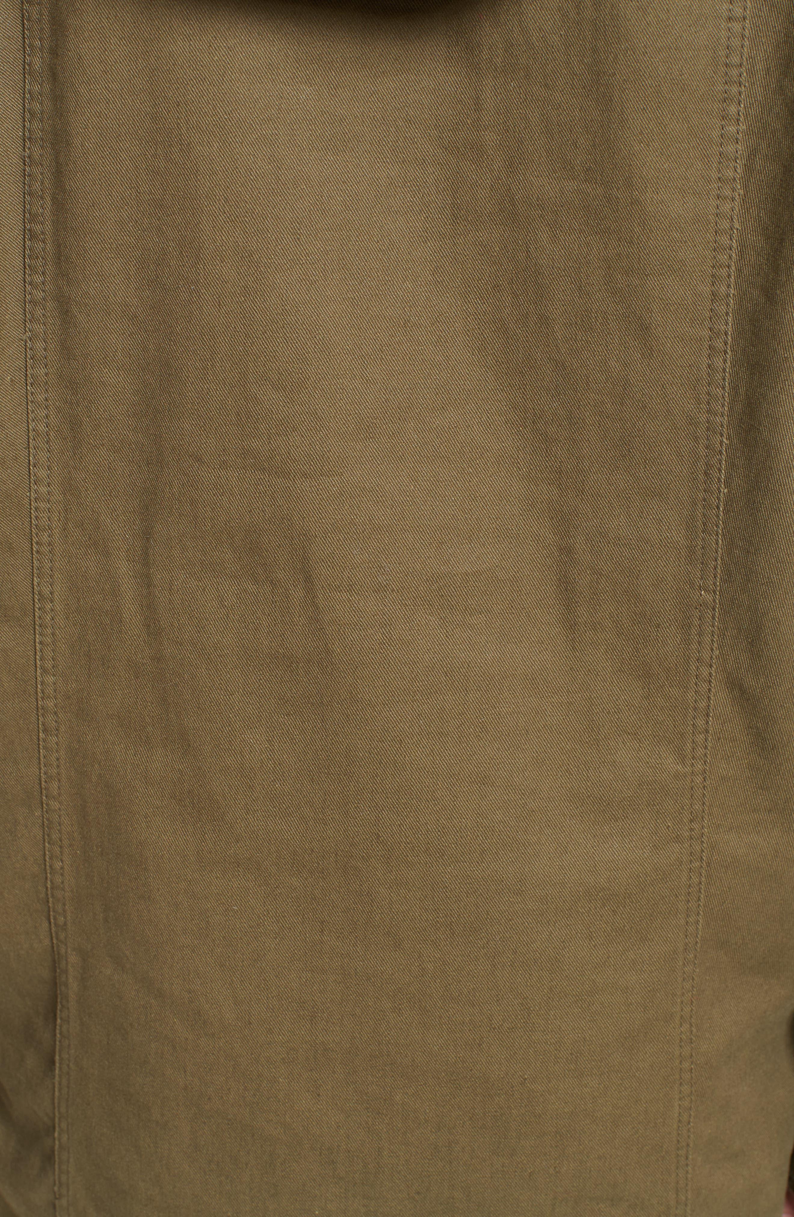 Alternate Image 3  - Saint Laurent Patch Embellished Cotton Blend Gabardine Dress