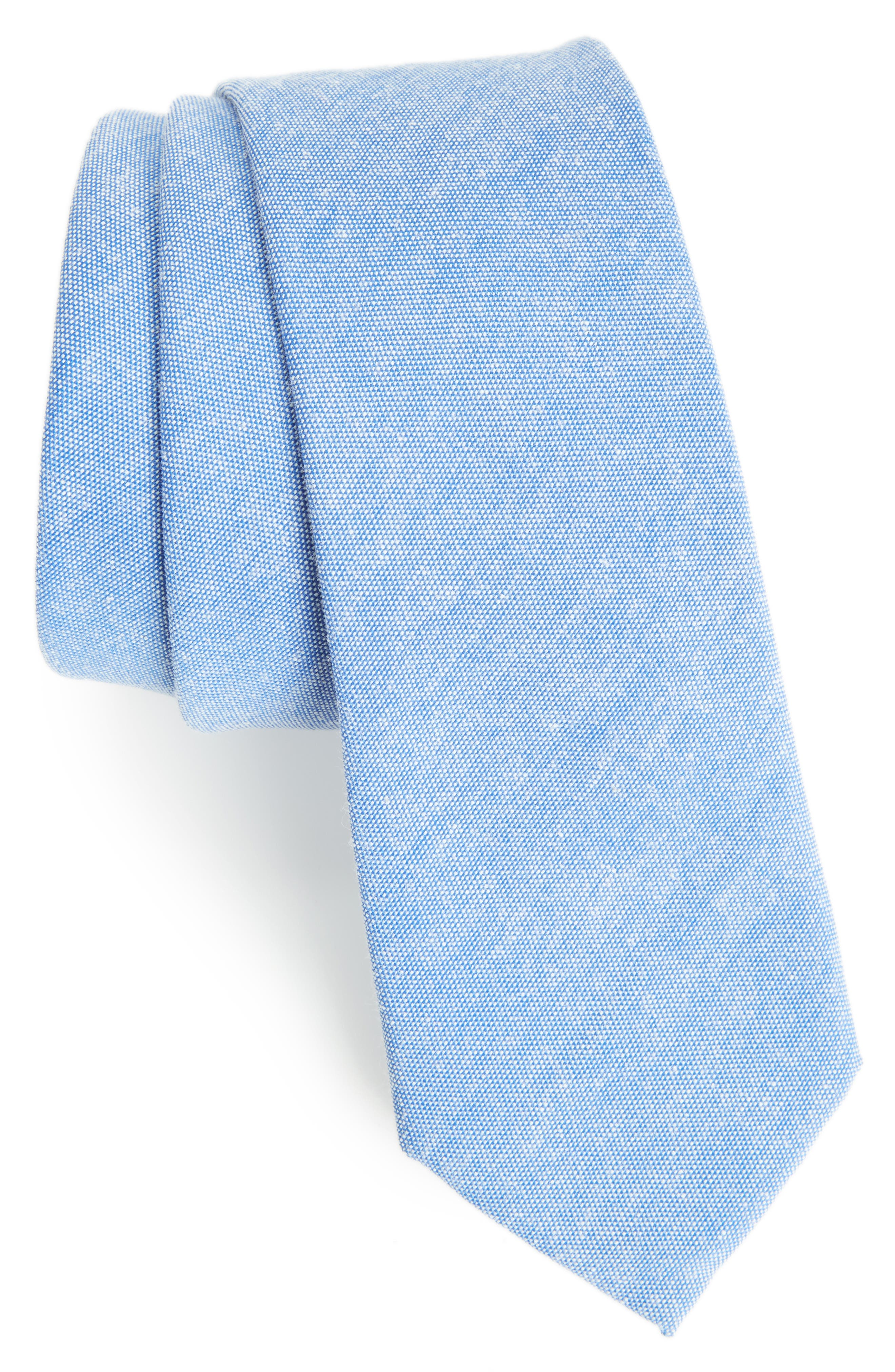 Solid Tie,                             Main thumbnail 1, color,                             Blue