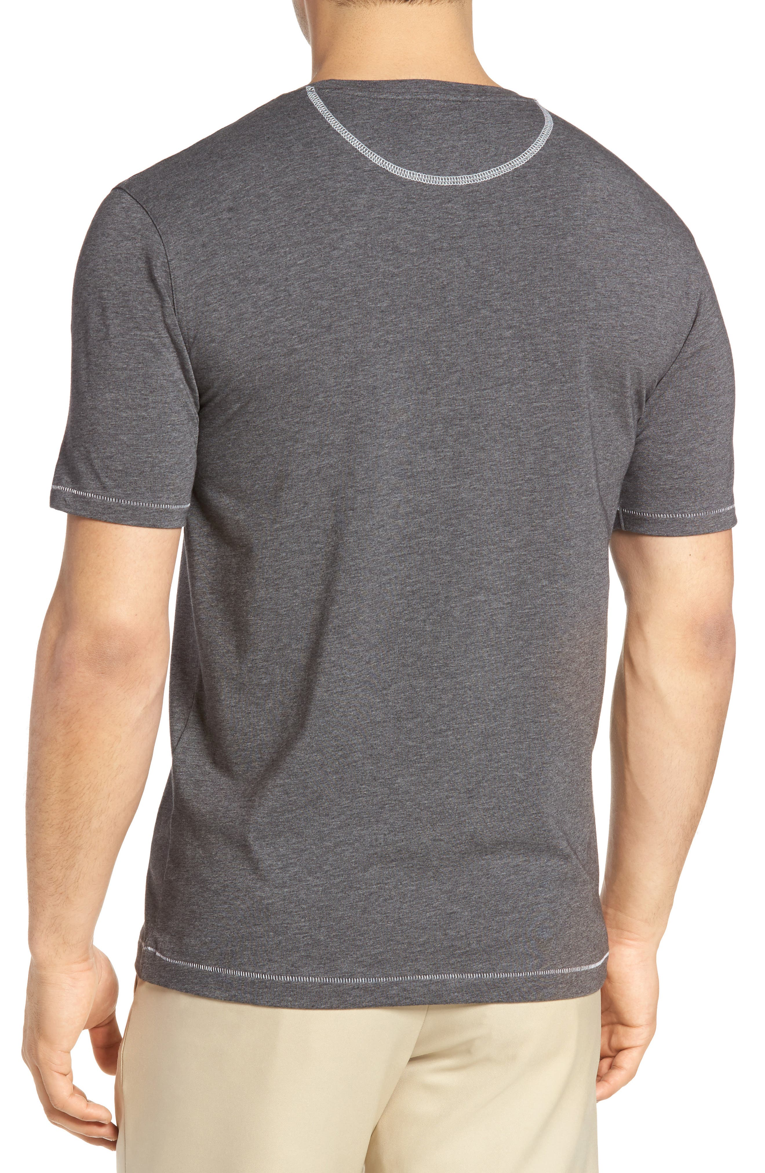 R18 Pocket T-Shirt,                             Alternate thumbnail 2, color,                             Charcoal Heather