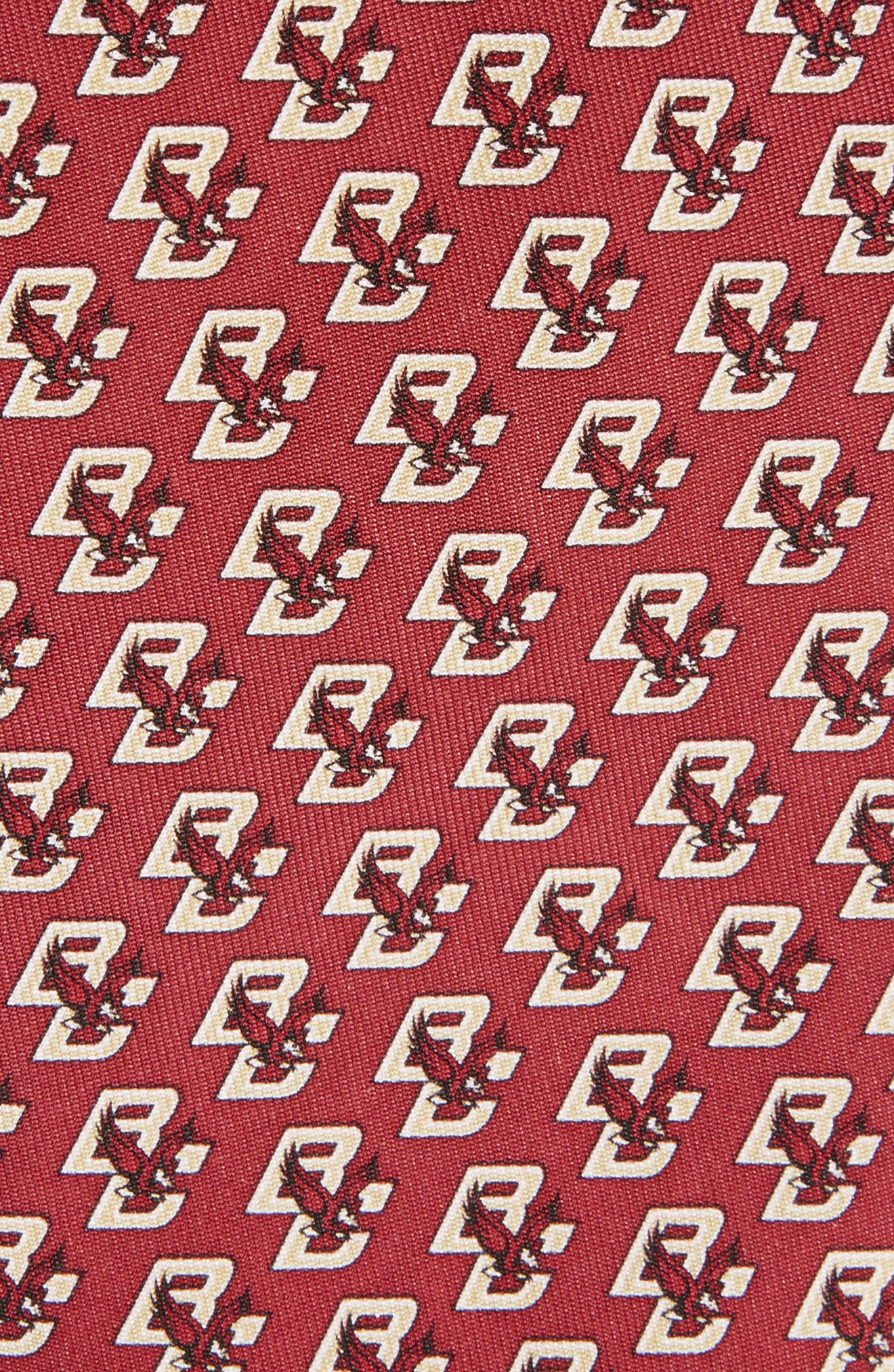 Boston College Silk Tie,                             Alternate thumbnail 2, color,                             Dark Red