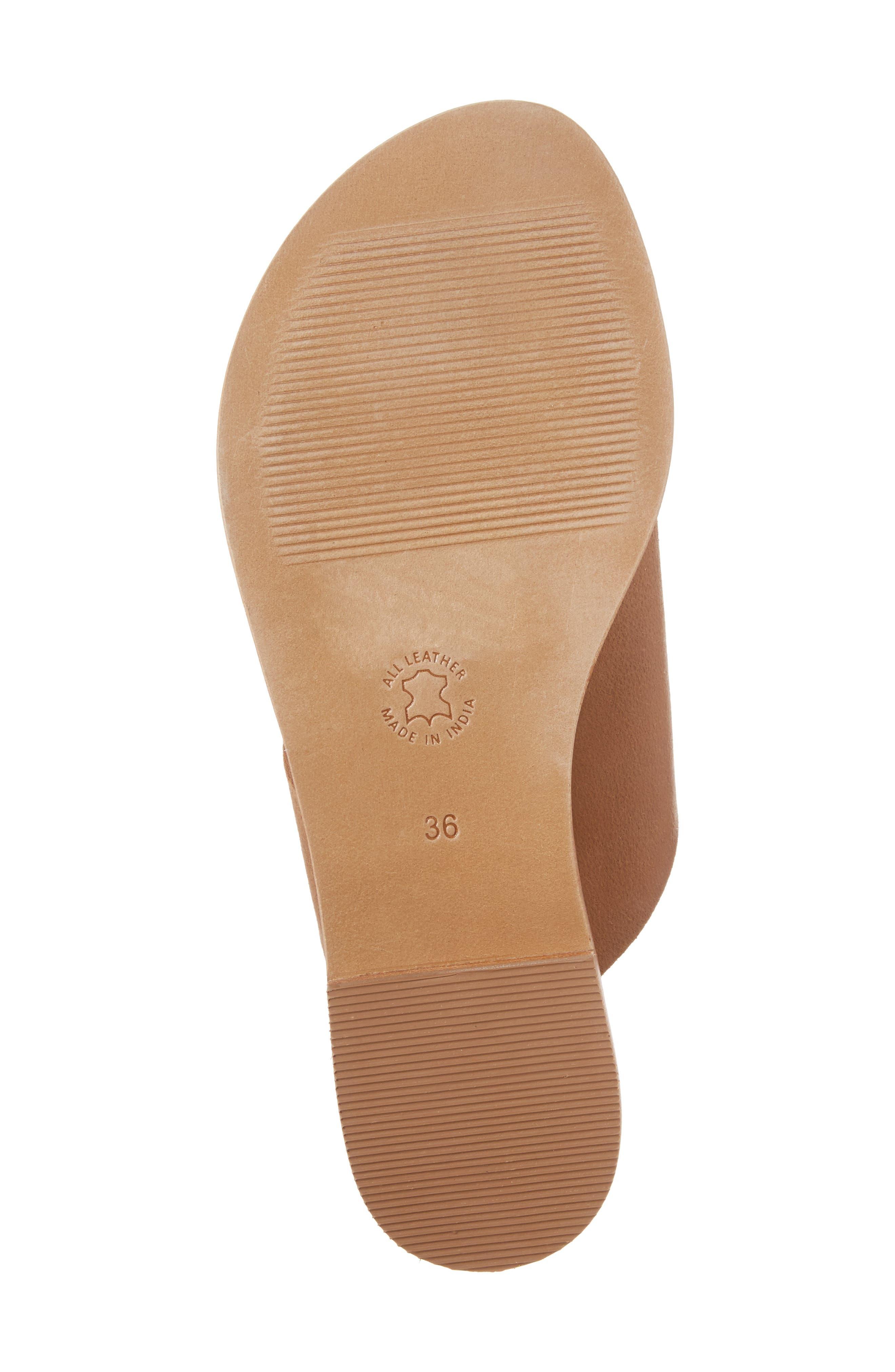 Fleet Slide Sandal,                             Alternate thumbnail 6, color,                             Tan Leather