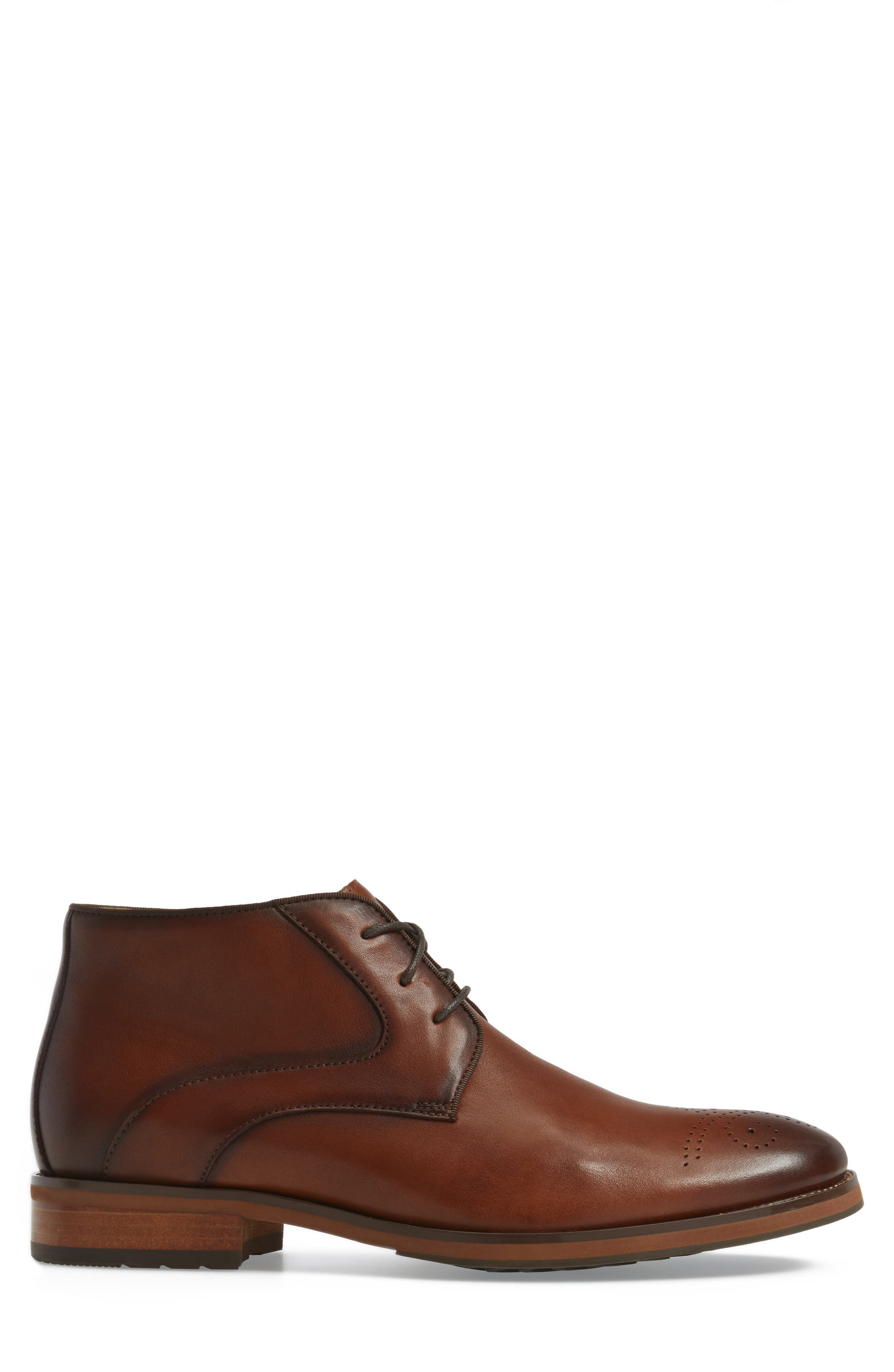 Blaze Chukka Boot,                             Alternate thumbnail 3, color,                             Cognac Leather