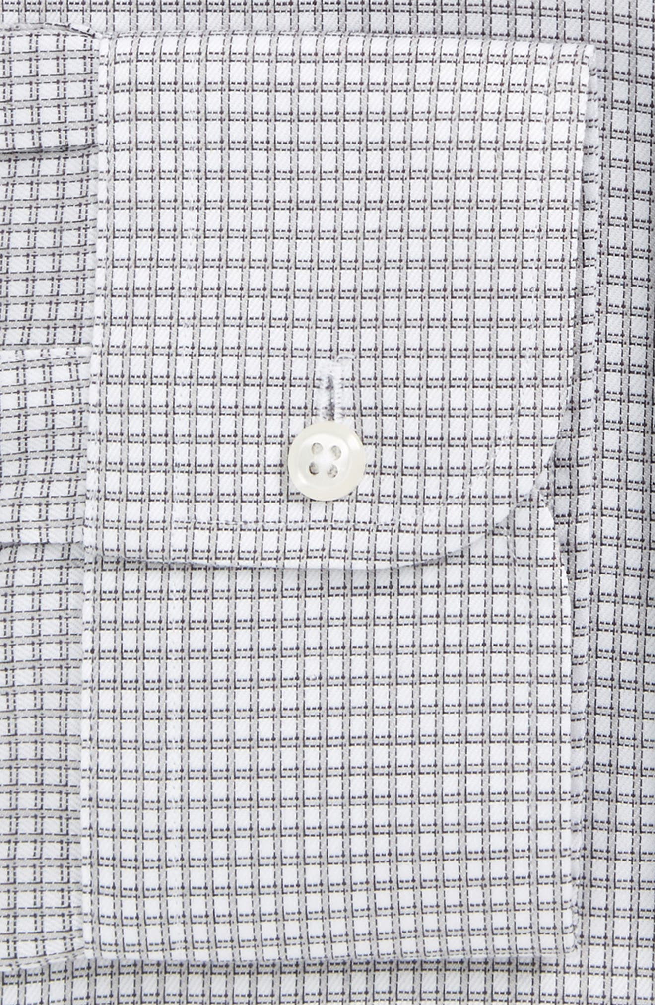 Smartcare<sup>™</sup> Traditional Fit Check Dress Shirt,                             Alternate thumbnail 2, color,                             Grey Silk